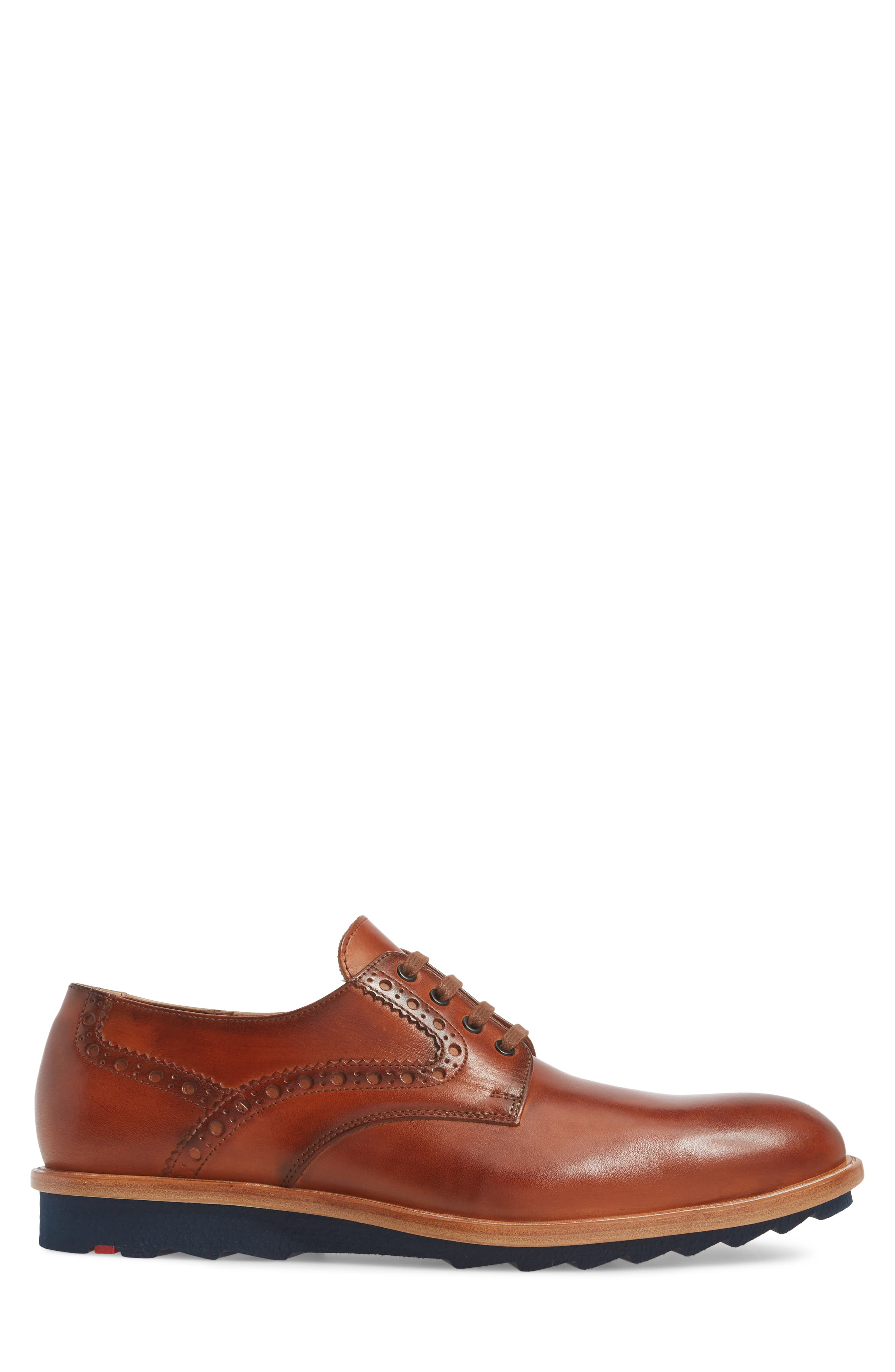 Fabian Plain Toe Derby,                             Alternate thumbnail 3, color,                             Fox Brown Leather