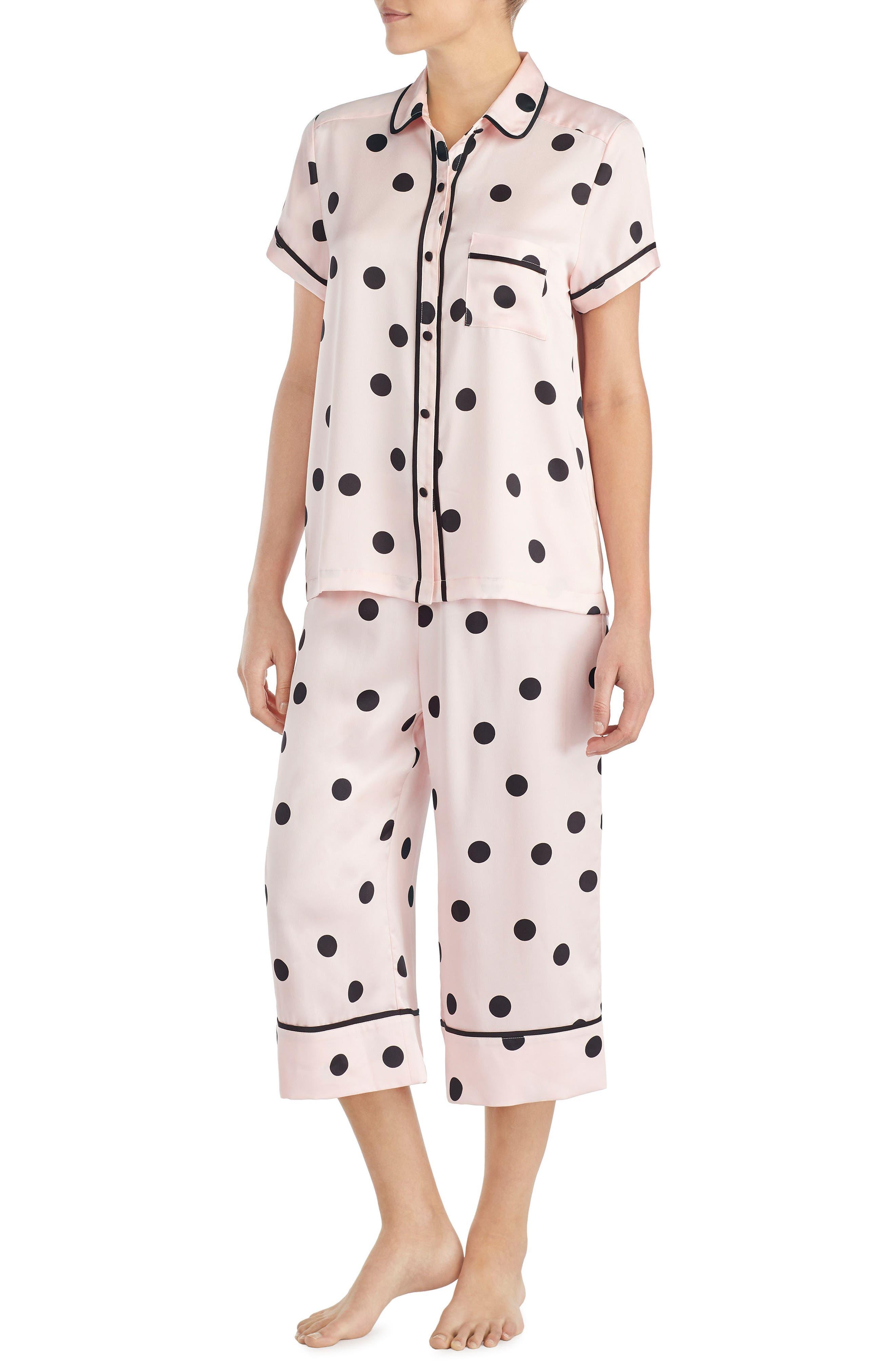 capri pajamas,                             Alternate thumbnail 3, color,                             Reina Dot