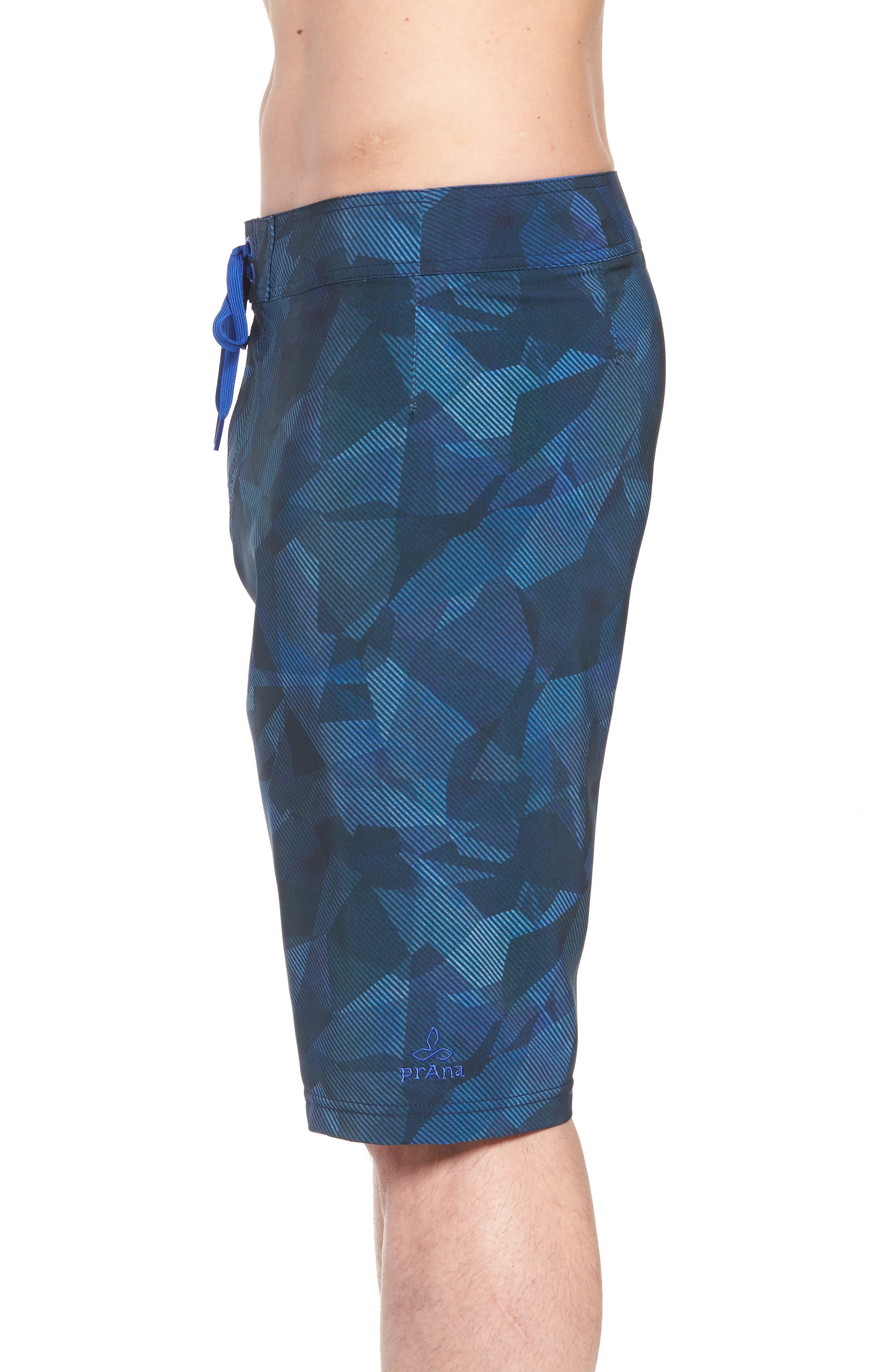 'Sediment' Stretch Board Shorts,                             Alternate thumbnail 3, color,                             Island Blue Hex