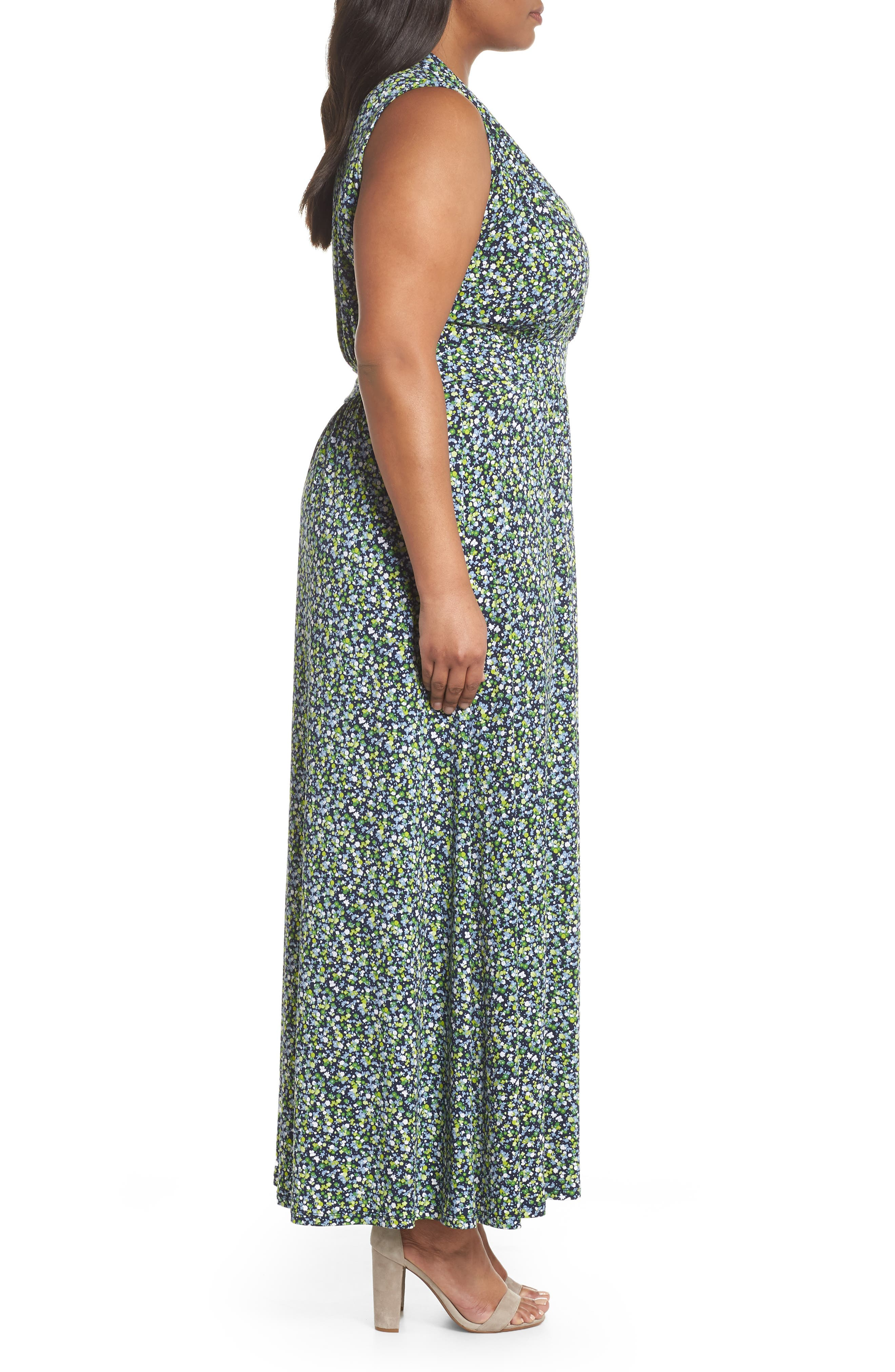 Alternate Image 3  - MICHAEL Michael Kors Wildflowers Maxi Dress (Plus Size)