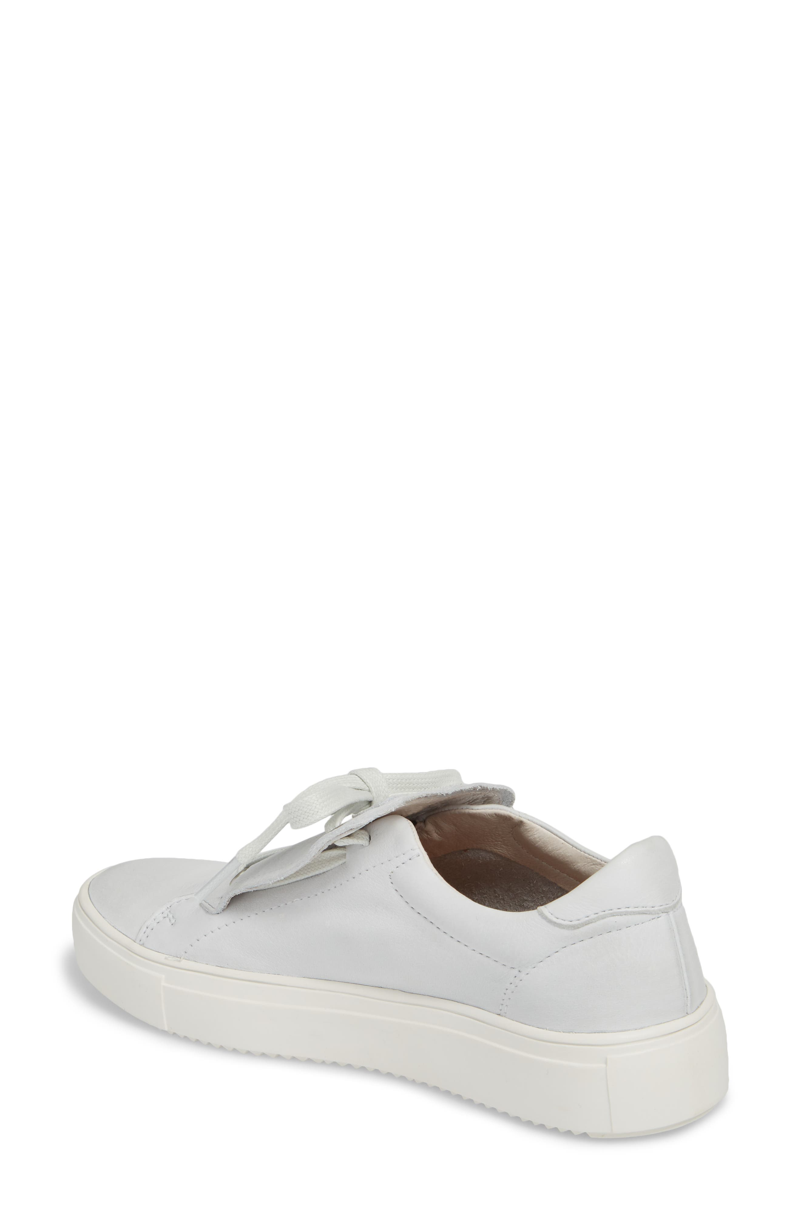 PL72 External Tongue Sneaker,                             Alternate thumbnail 2, color,                             White Leather