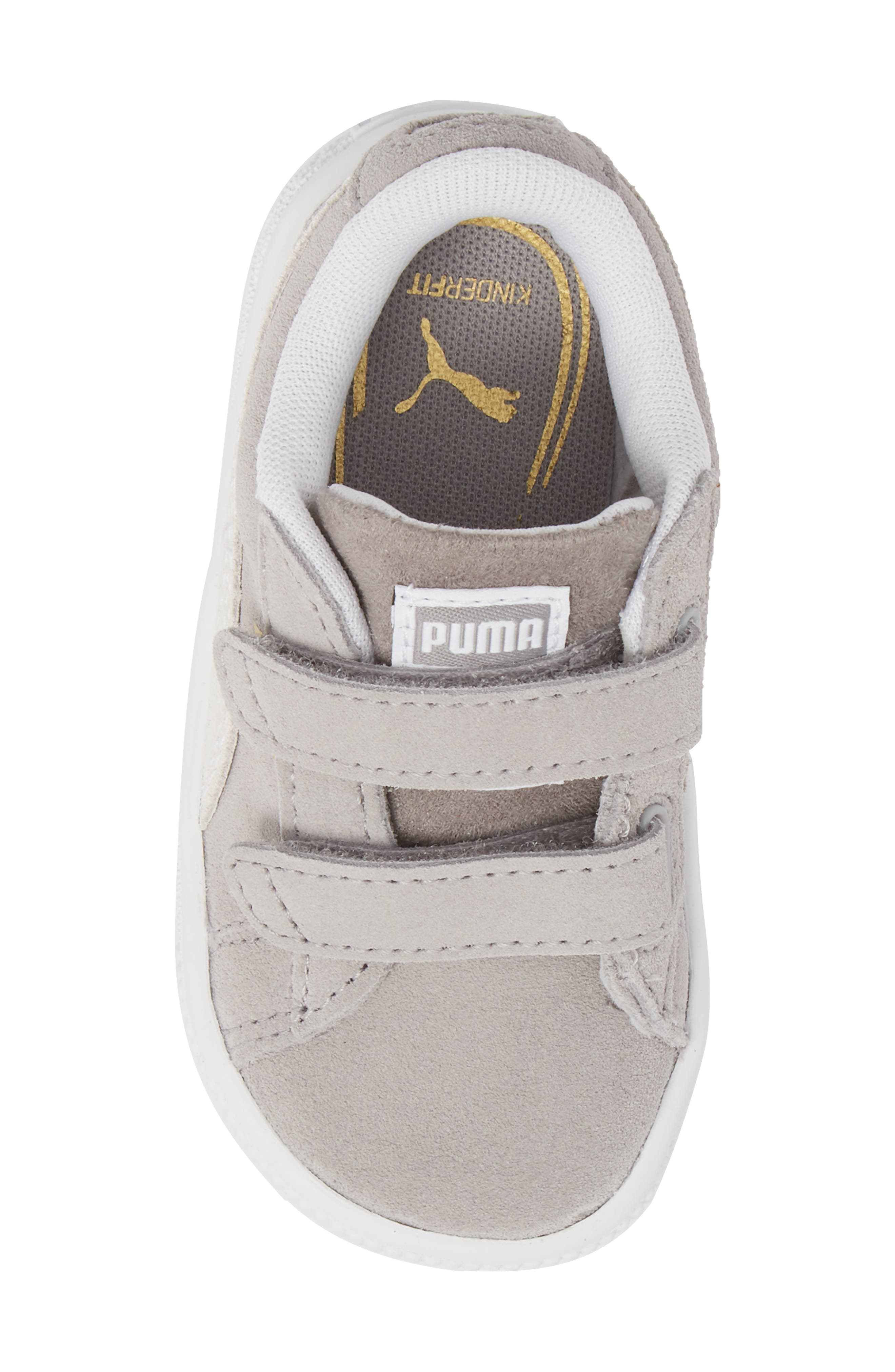 Suede Classic Sneaker,                             Alternate thumbnail 5, color,                             Ash/ Puma White