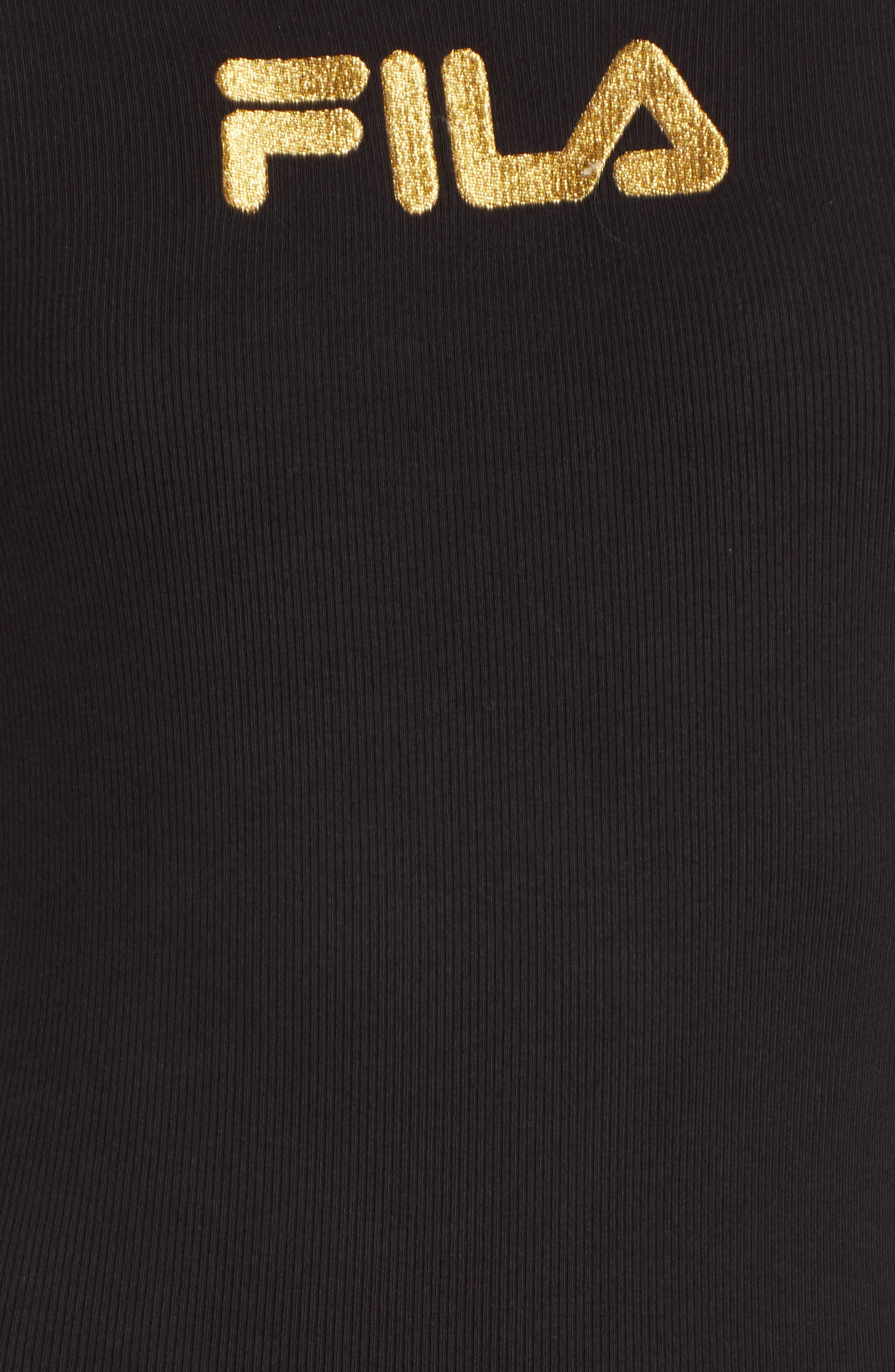 Ivory Unitard,                             Alternate thumbnail 6, color,                             Black/ White