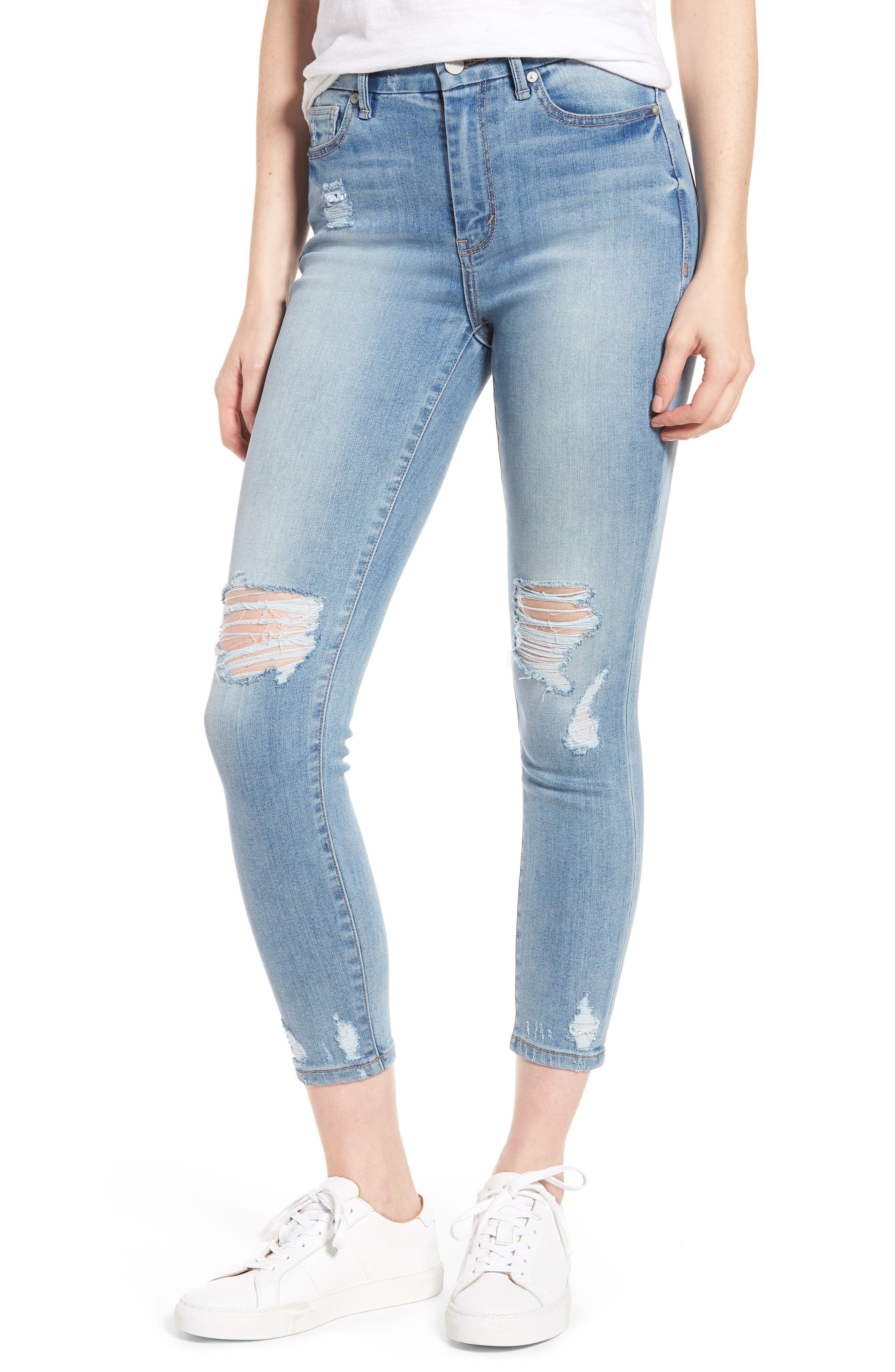 Cressa High Rise Ankle Skinny Jeans,                             Main thumbnail 1, color,                             Varnish