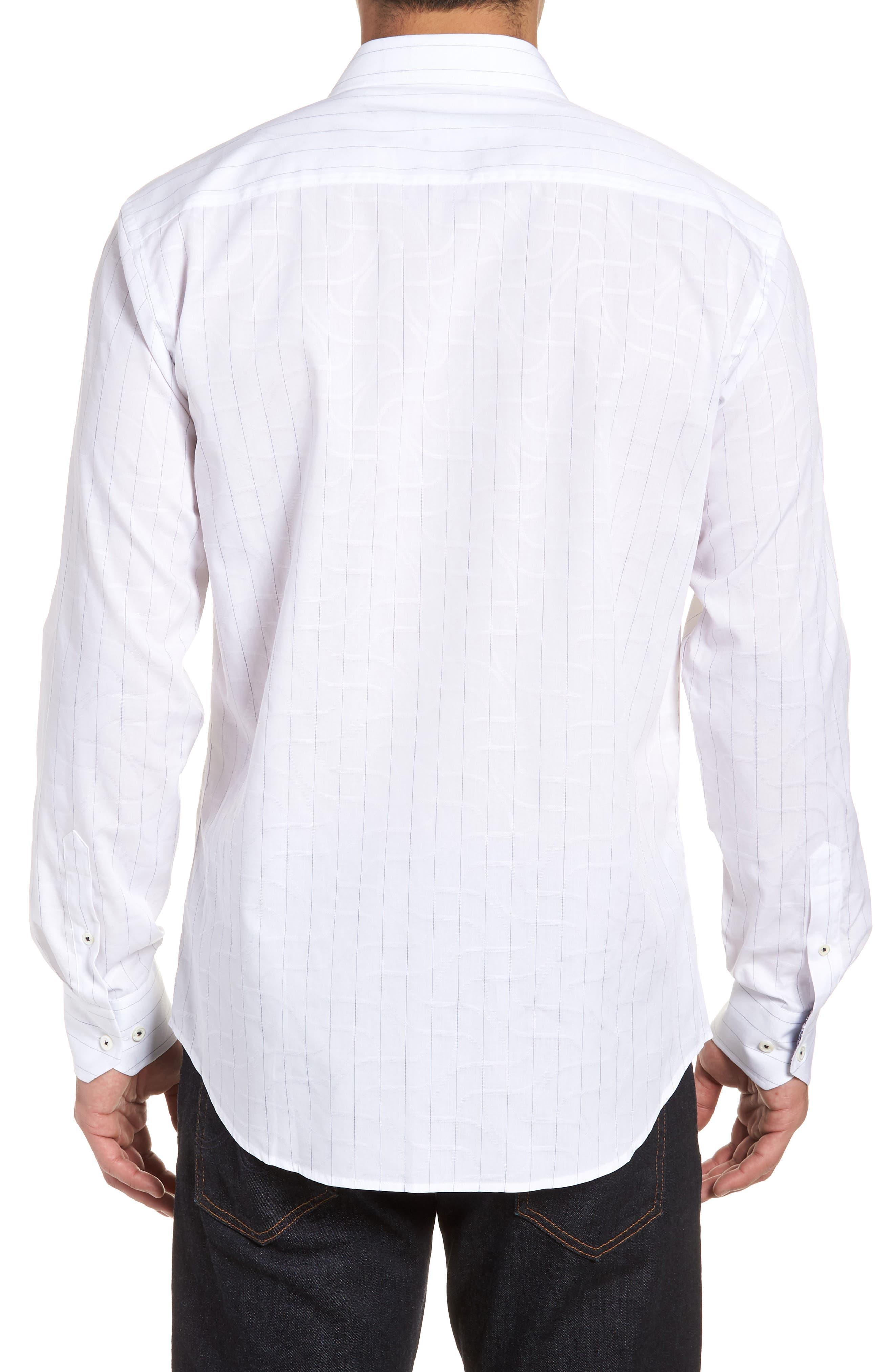 Woven Sport Shirt,                             Alternate thumbnail 2, color,                             White
