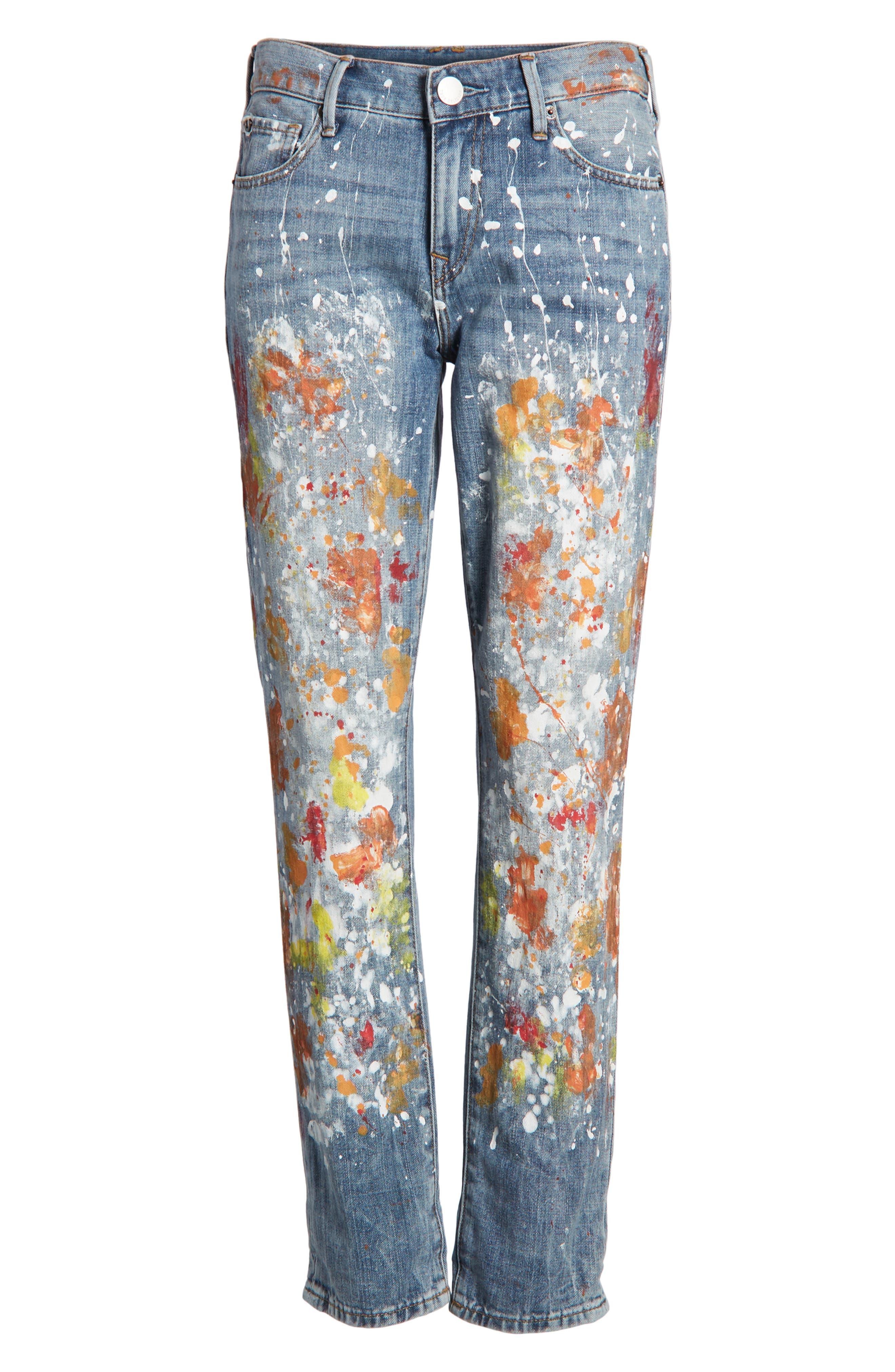 Cameron Slim Boyfriend Jeans,                             Alternate thumbnail 7, color,                             Erwm Popm Art
