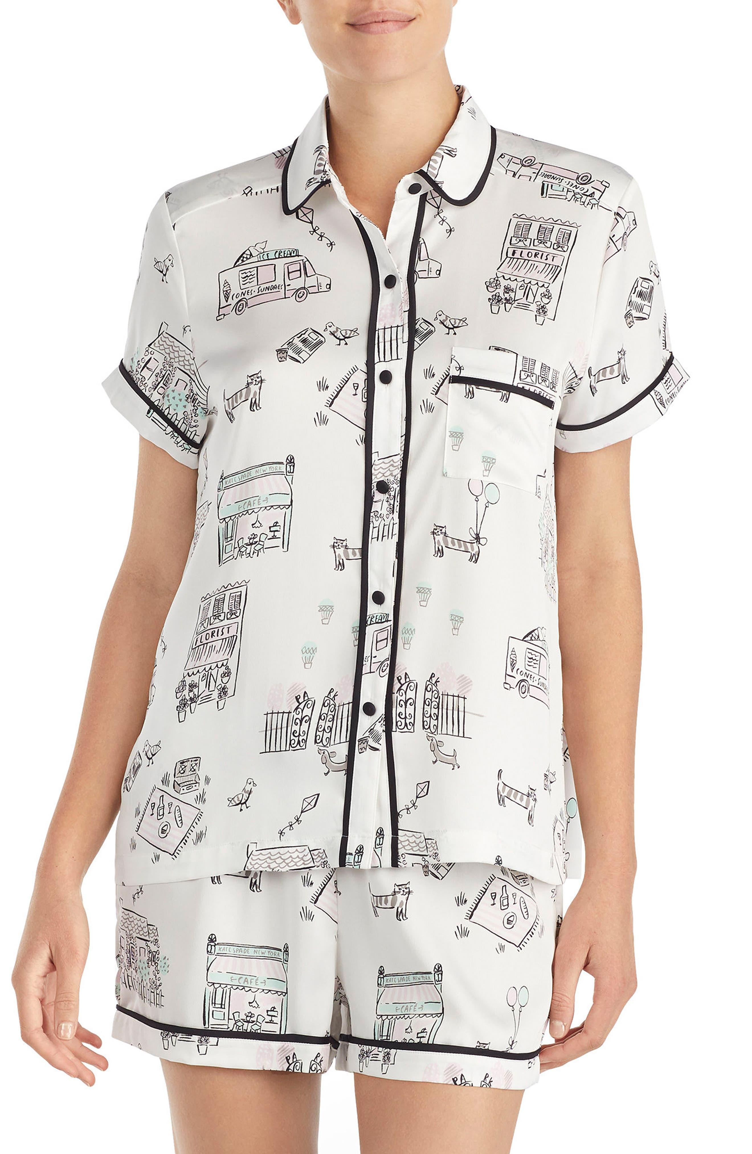 boxer short pajamas,                             Main thumbnail 1, color,                             Main Street
