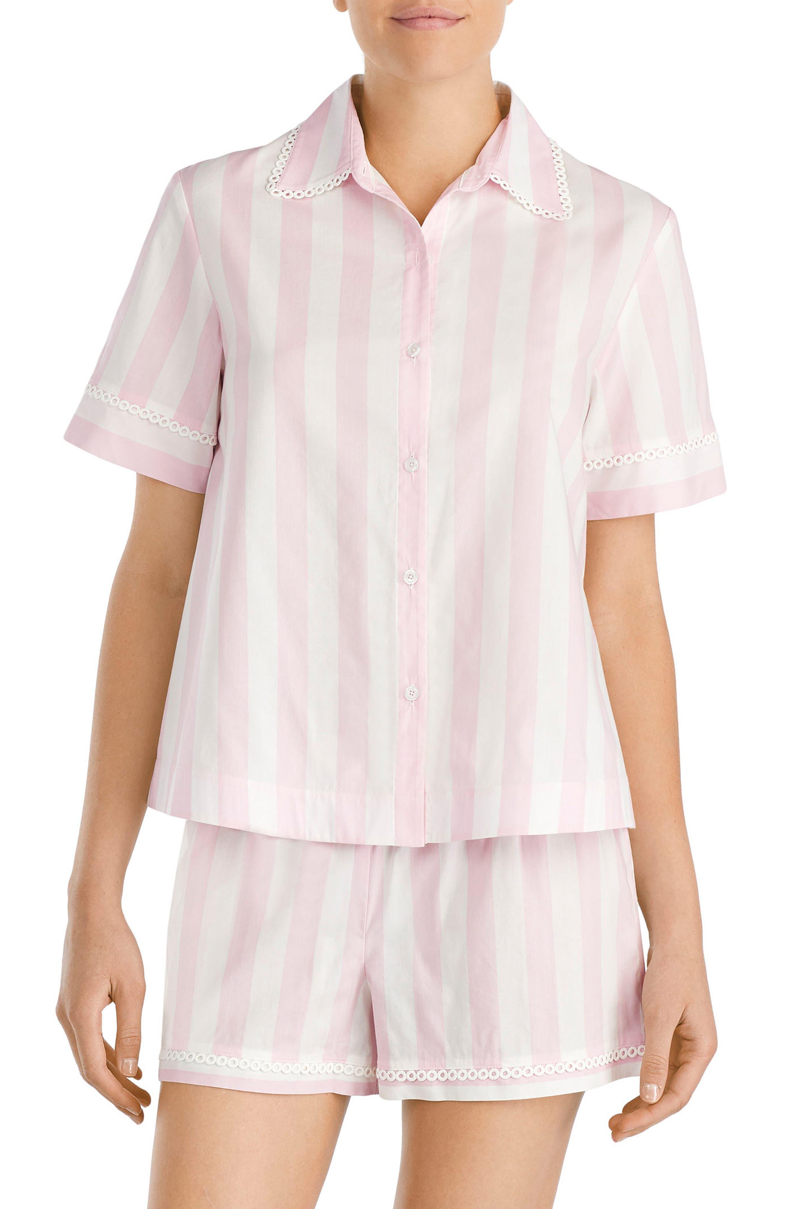 short pajamas,                             Main thumbnail 1, color,                             Bay Stripe
