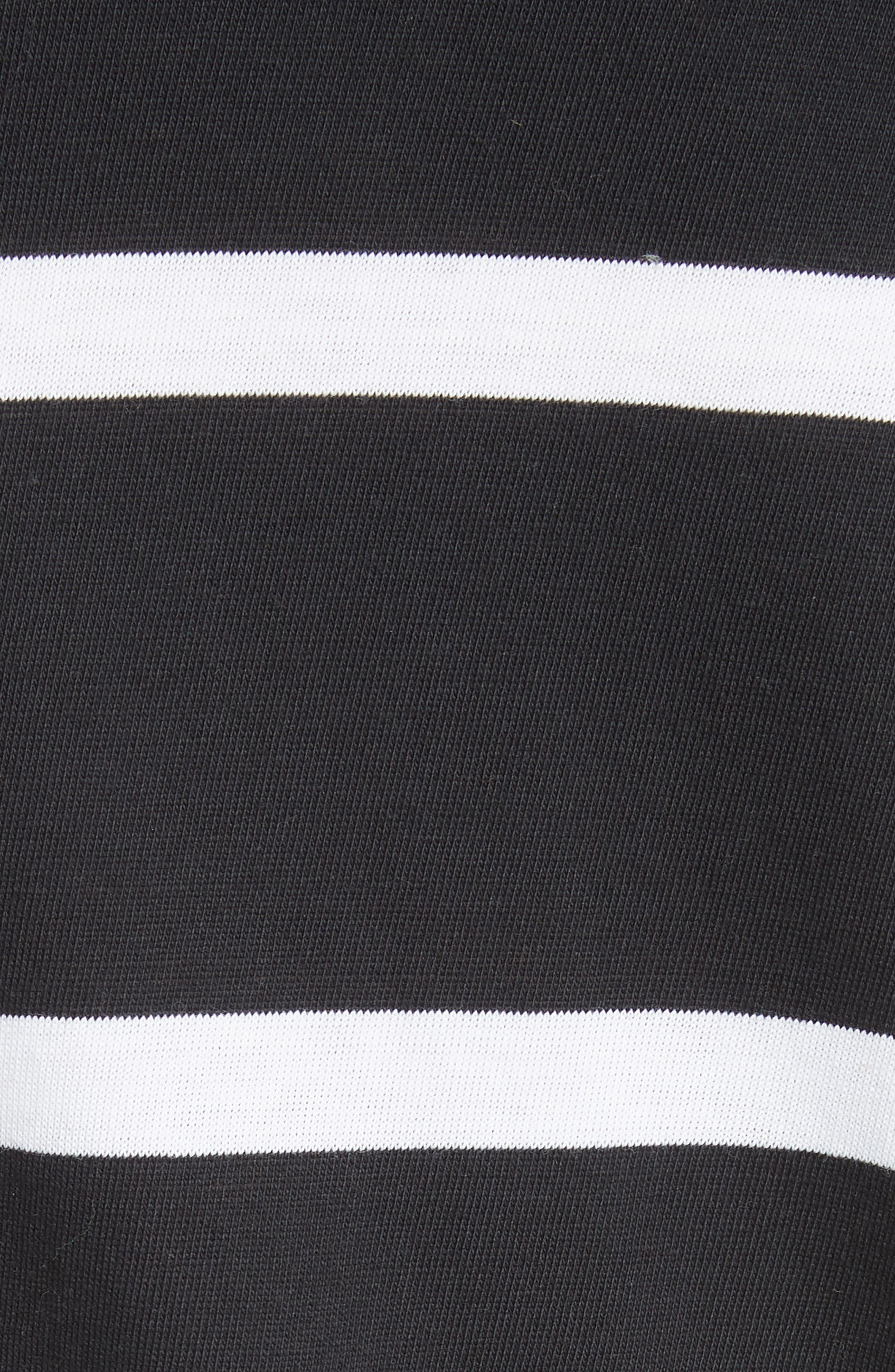 Upstate Stripe Tee,                             Alternate thumbnail 5, color,                             Onyx Combo