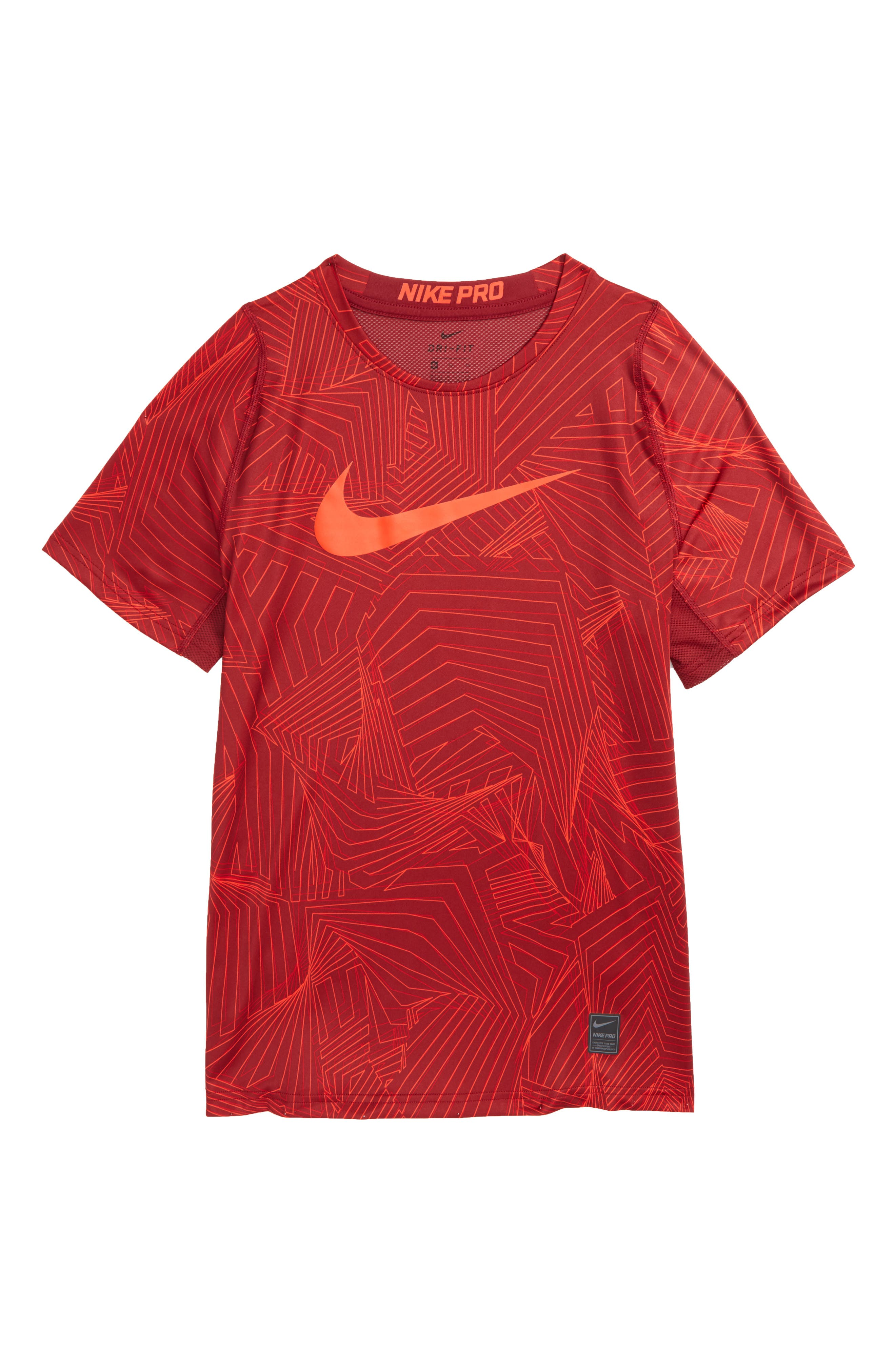 Pro Fitted Training Shirt,                             Main thumbnail 1, color,                             Team Red