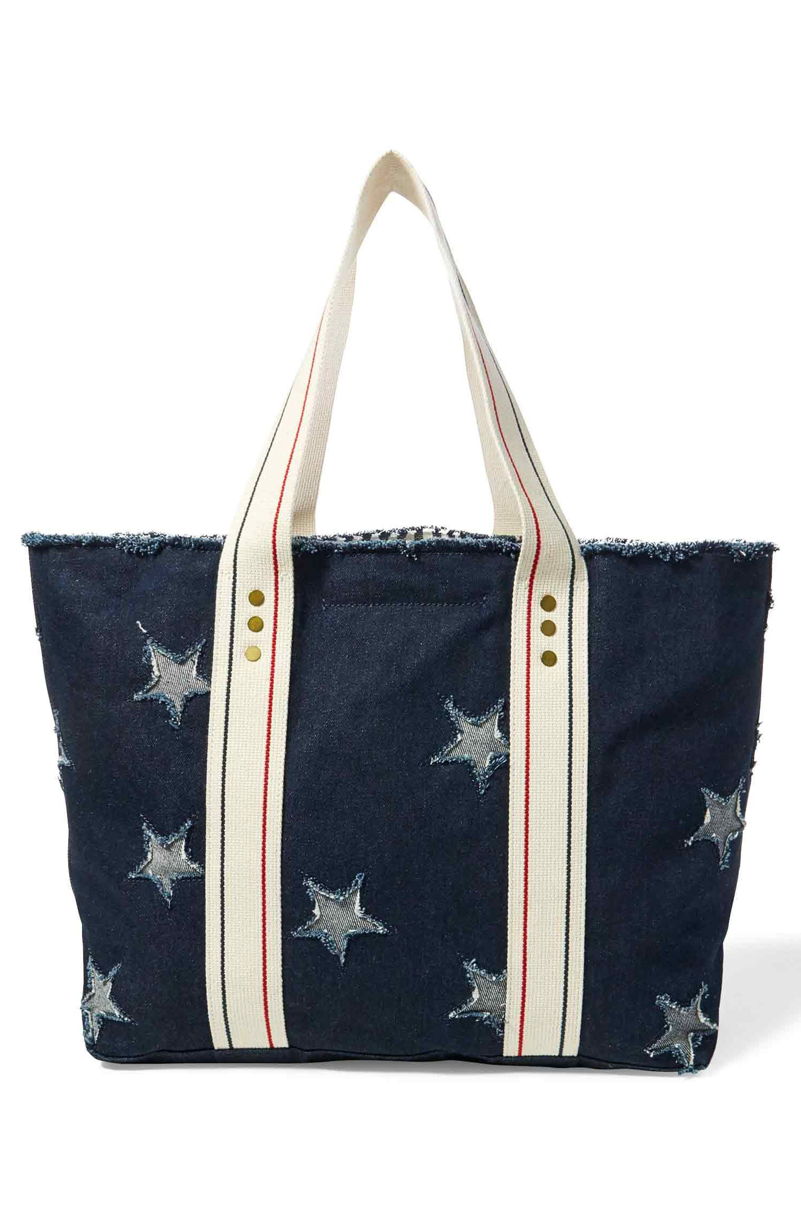 Flag Canvas Tote,                             Alternate thumbnail 2, color,                             Star Tote