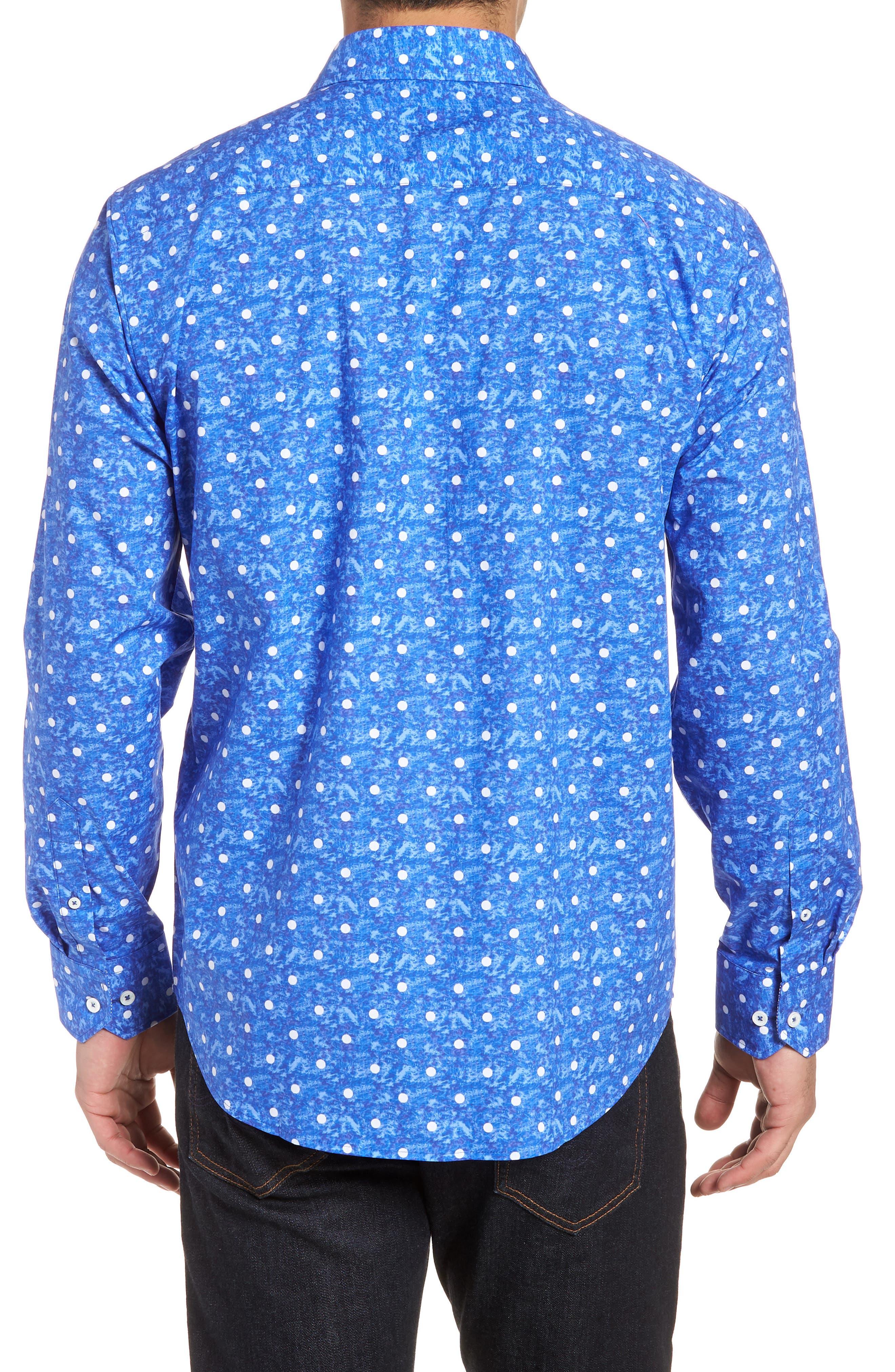 Classic Fit Woven Sport Shirt,                             Alternate thumbnail 2, color,                             Royal