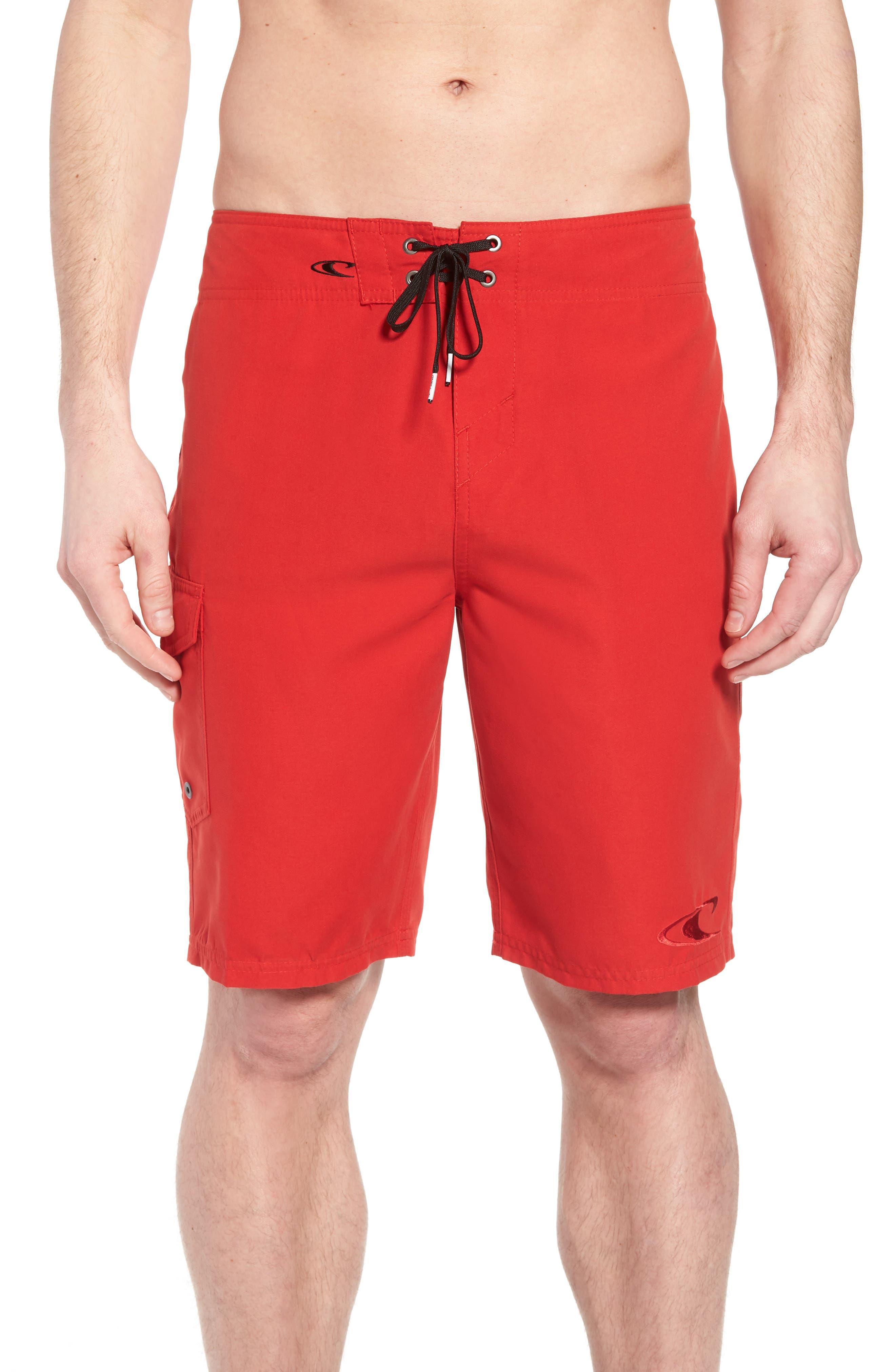 Santa Cruz Board Shorts,                             Main thumbnail 1, color,                             Red