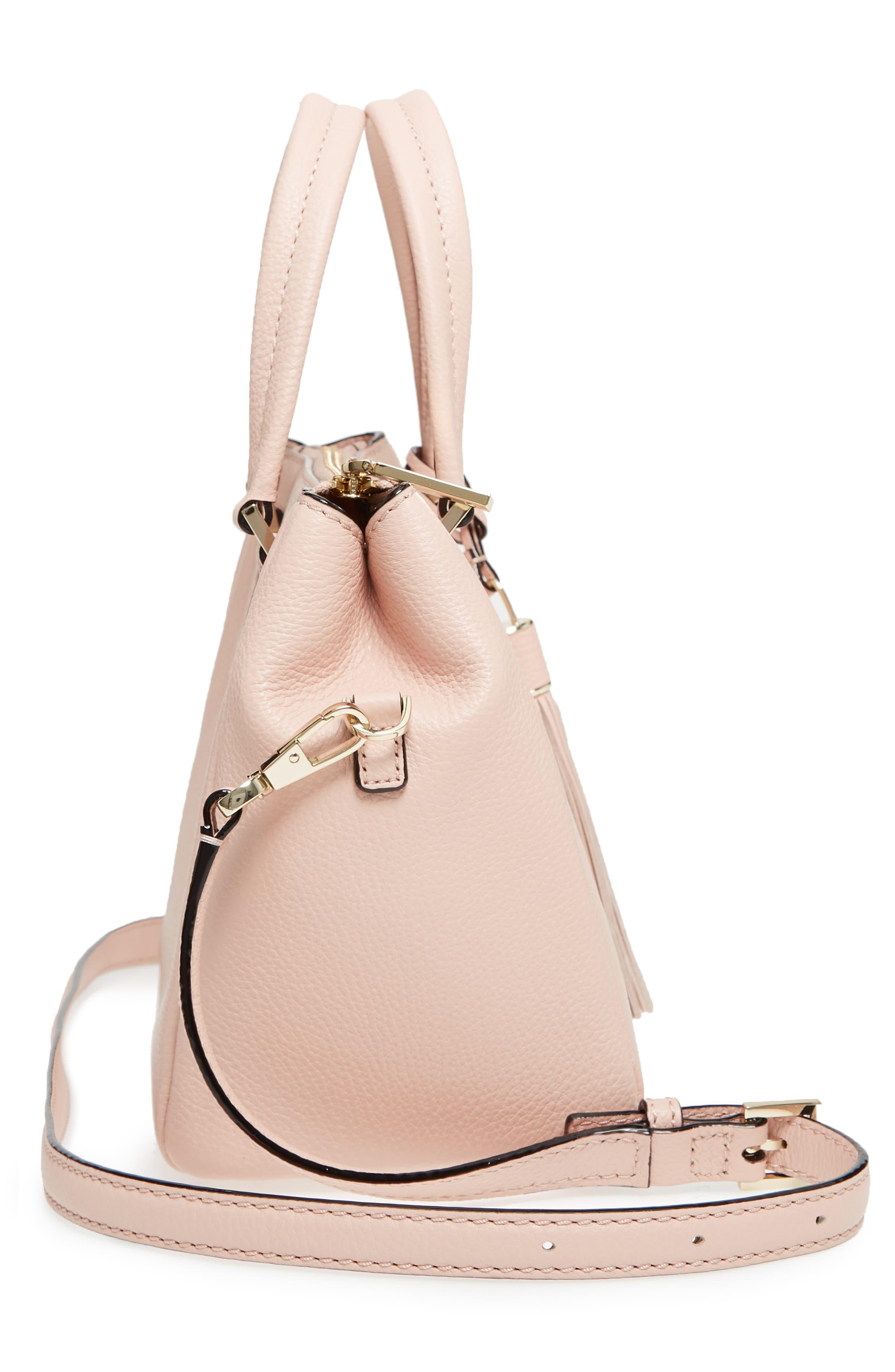 kingston drive - small alena leather satchel,                             Alternate thumbnail 5, color,                             Warm Vellum