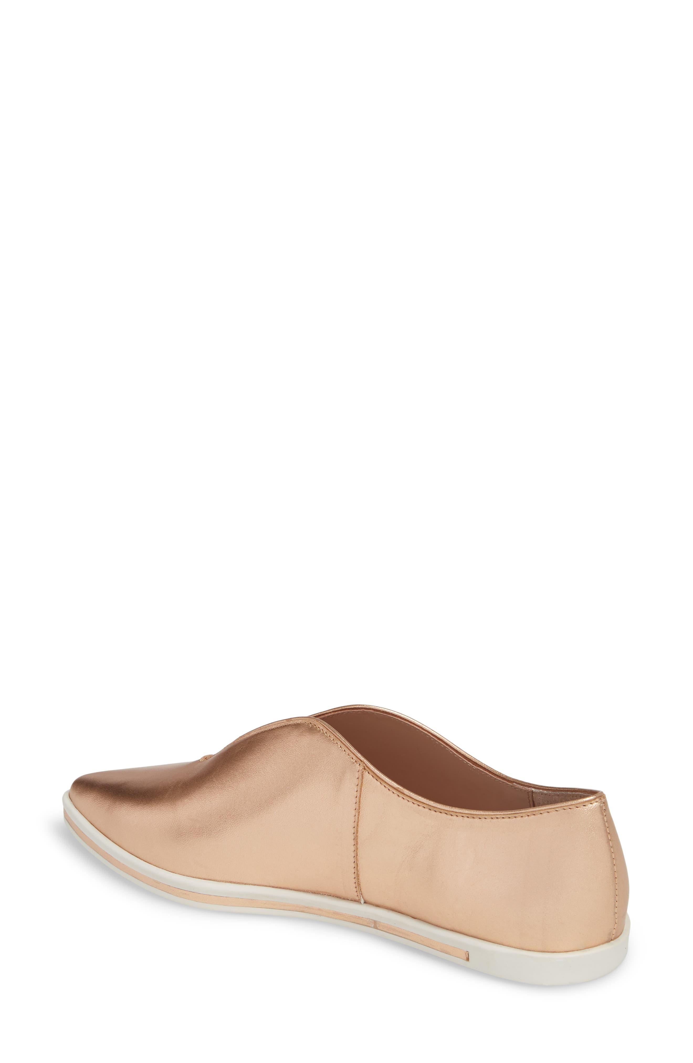Tisha Slip-On Sneaker,                             Alternate thumbnail 2, color,                             Rose Gold Leather