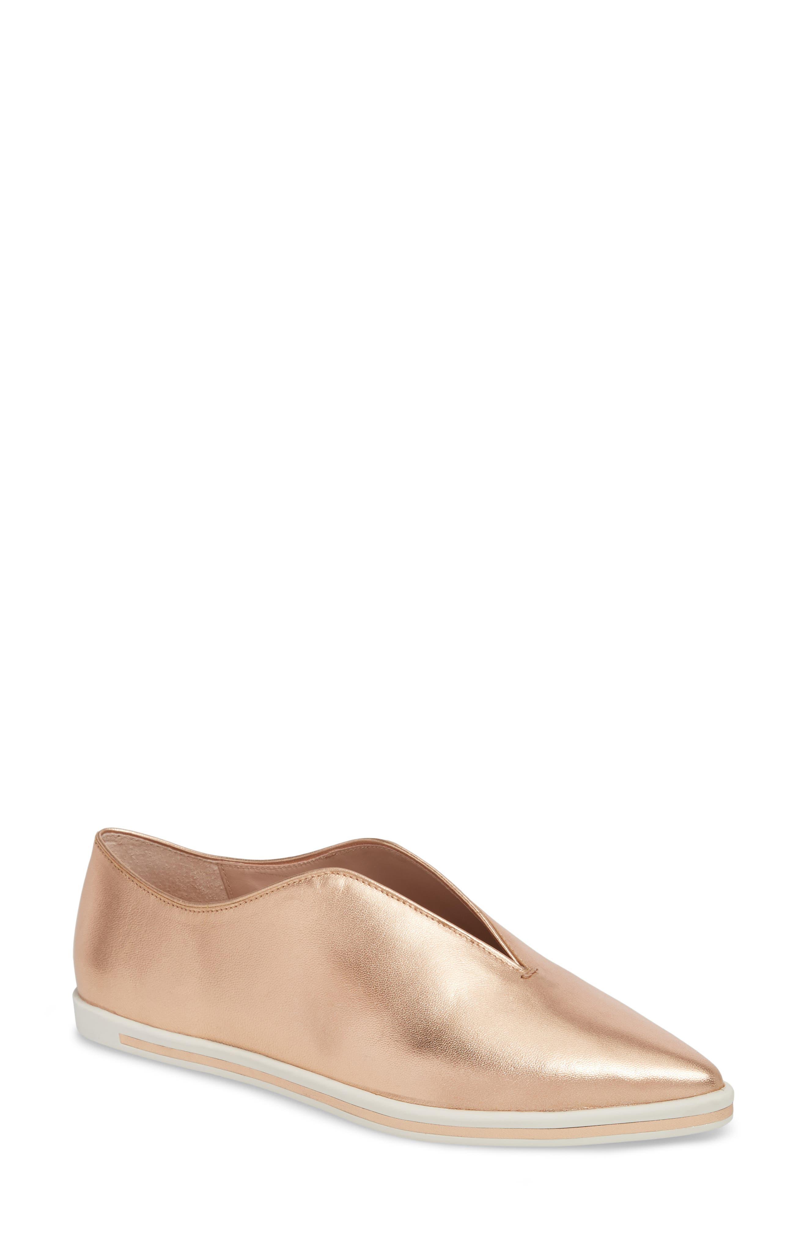 Tisha Slip-On Sneaker,                             Main thumbnail 1, color,                             Rose Gold Leather