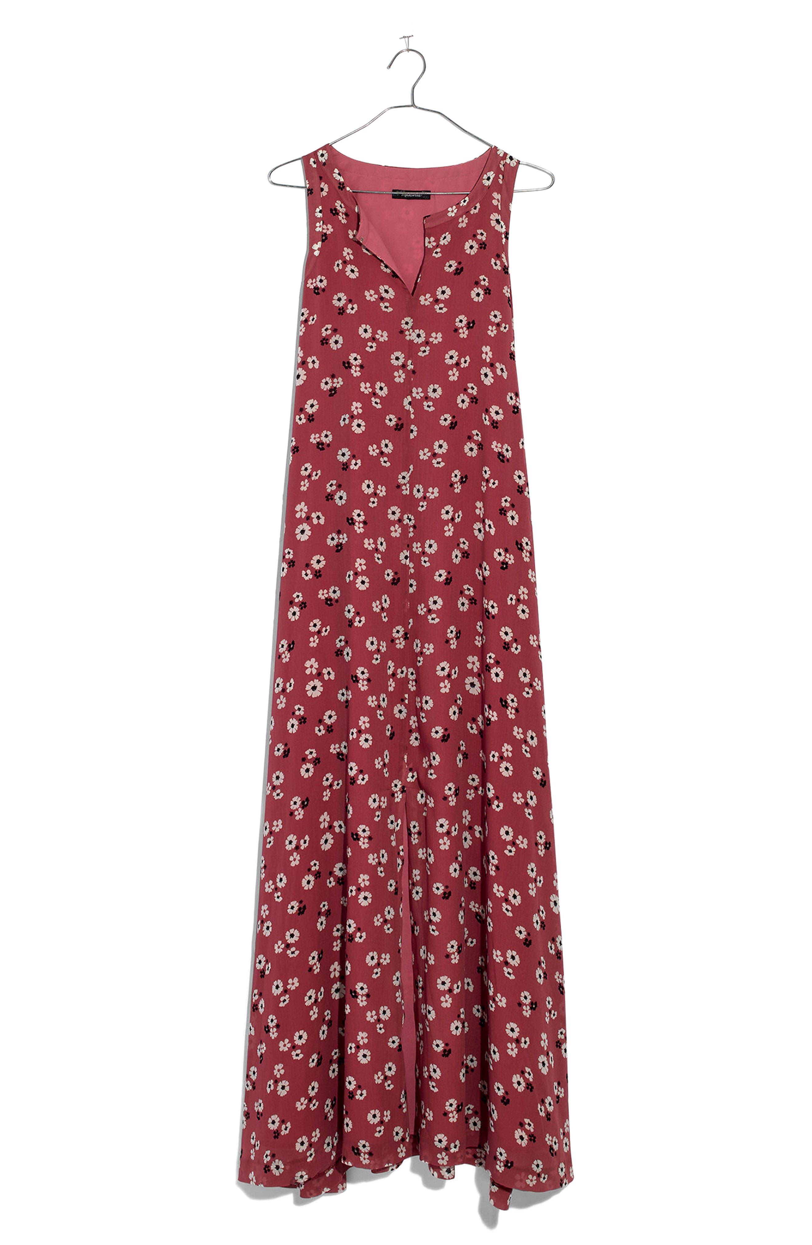 Daisy Tie Waist Maxi Dress,                             Alternate thumbnail 4, color,                             Autumn Berry