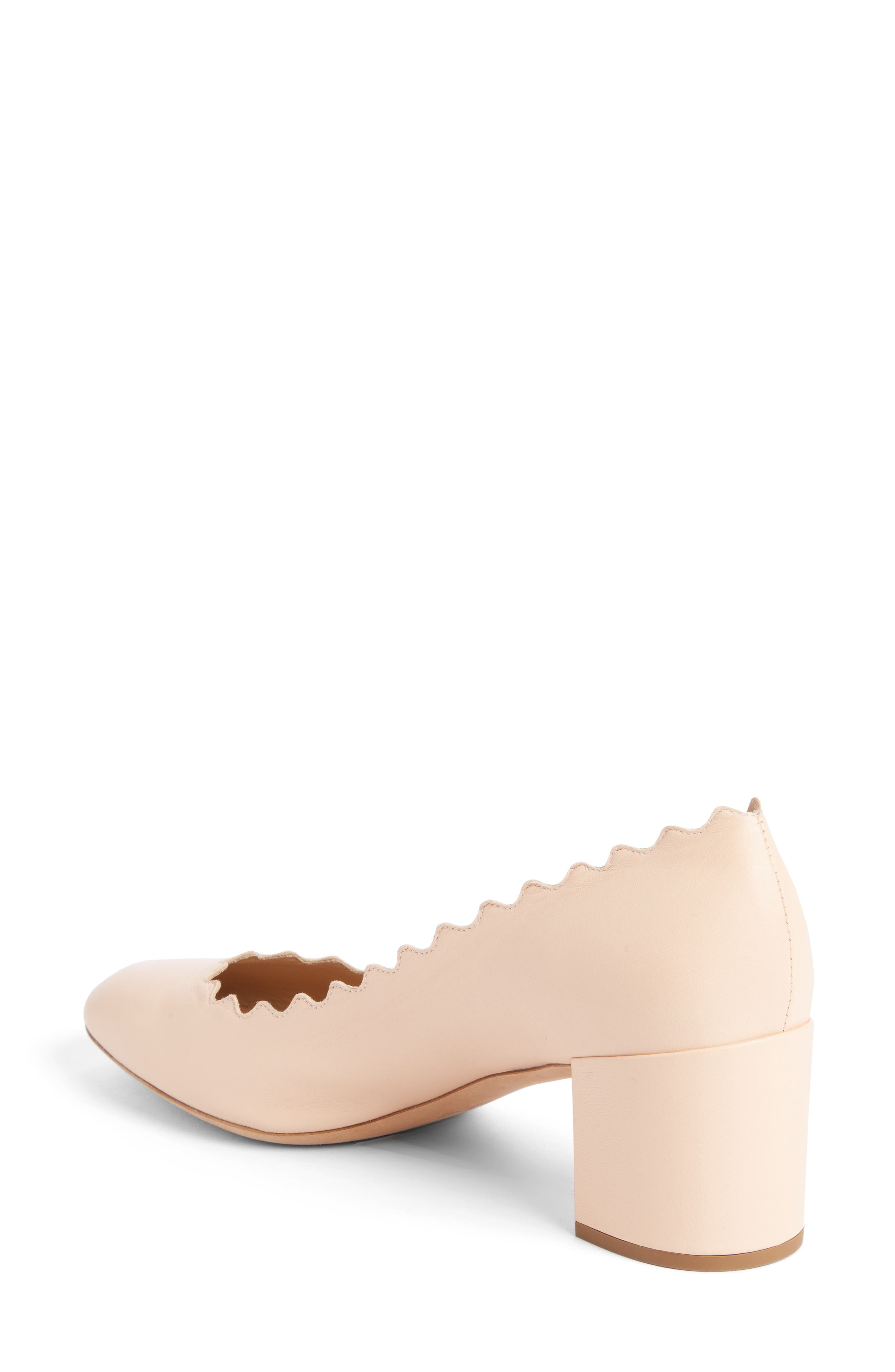 Lauren Scalloped Pump,                             Alternate thumbnail 2, color,                             Honey Nude