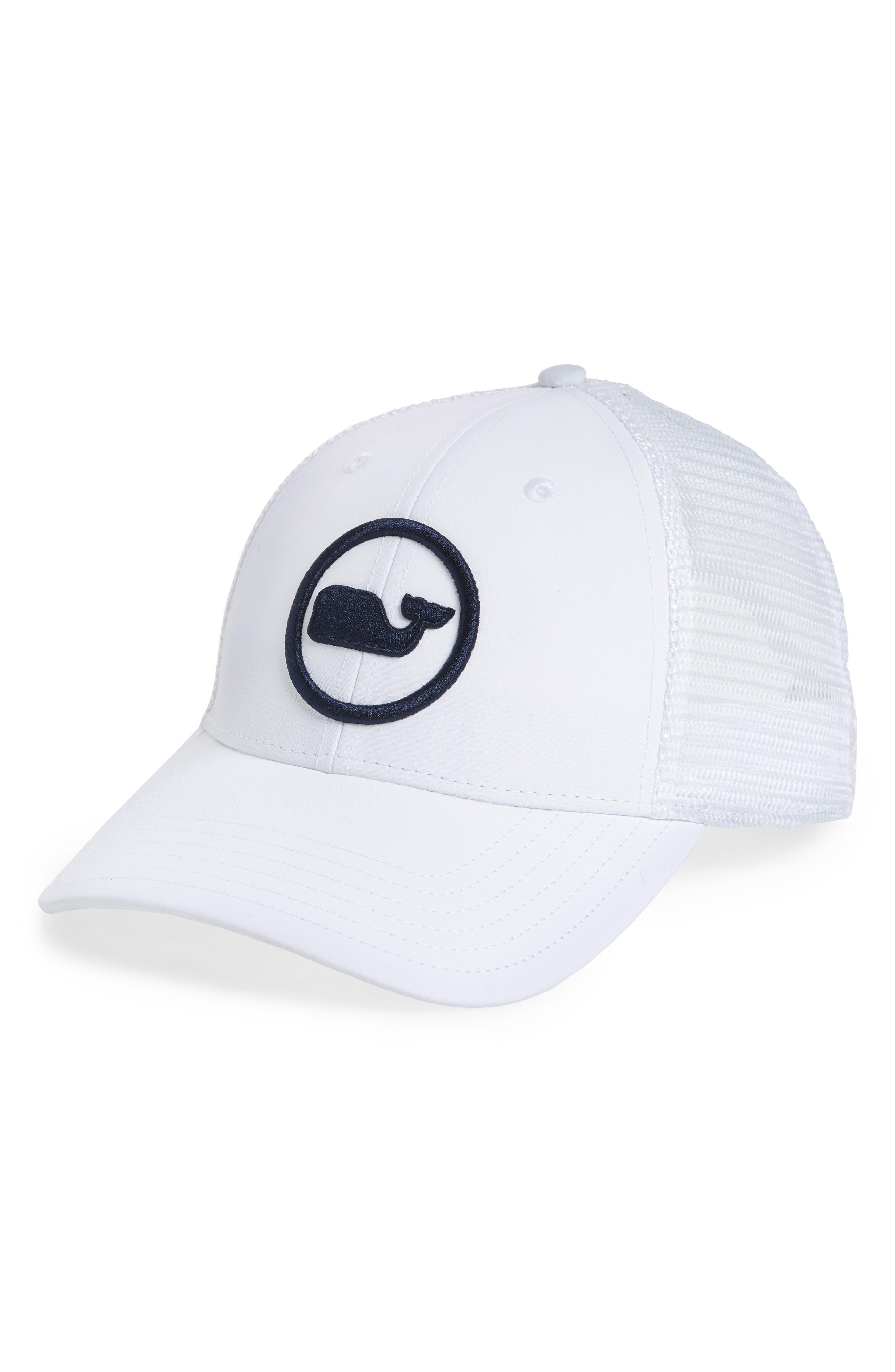 58d9309597840 VINEYARD VINES Whale Dot Trucker Cap - White