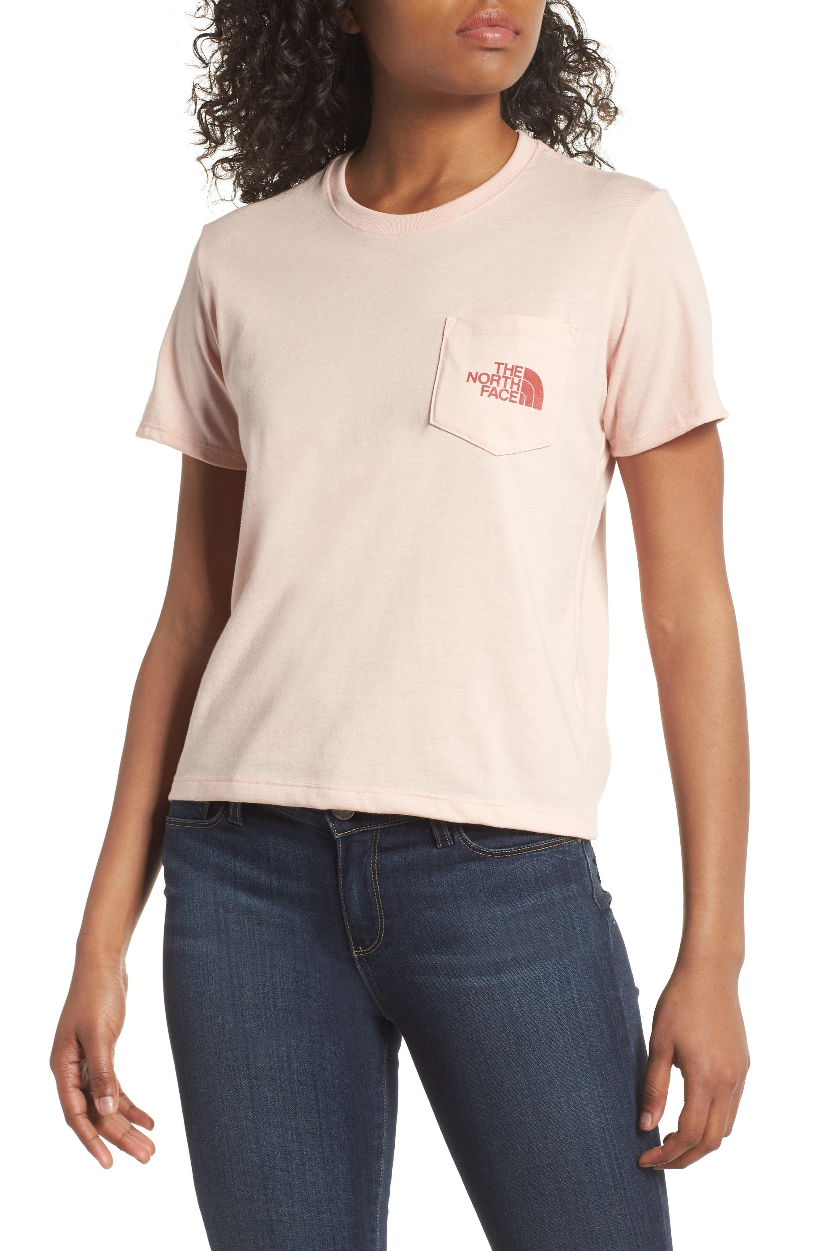 Logo Graphic Tee,                         Main,                         color, Evening Sand Pink
