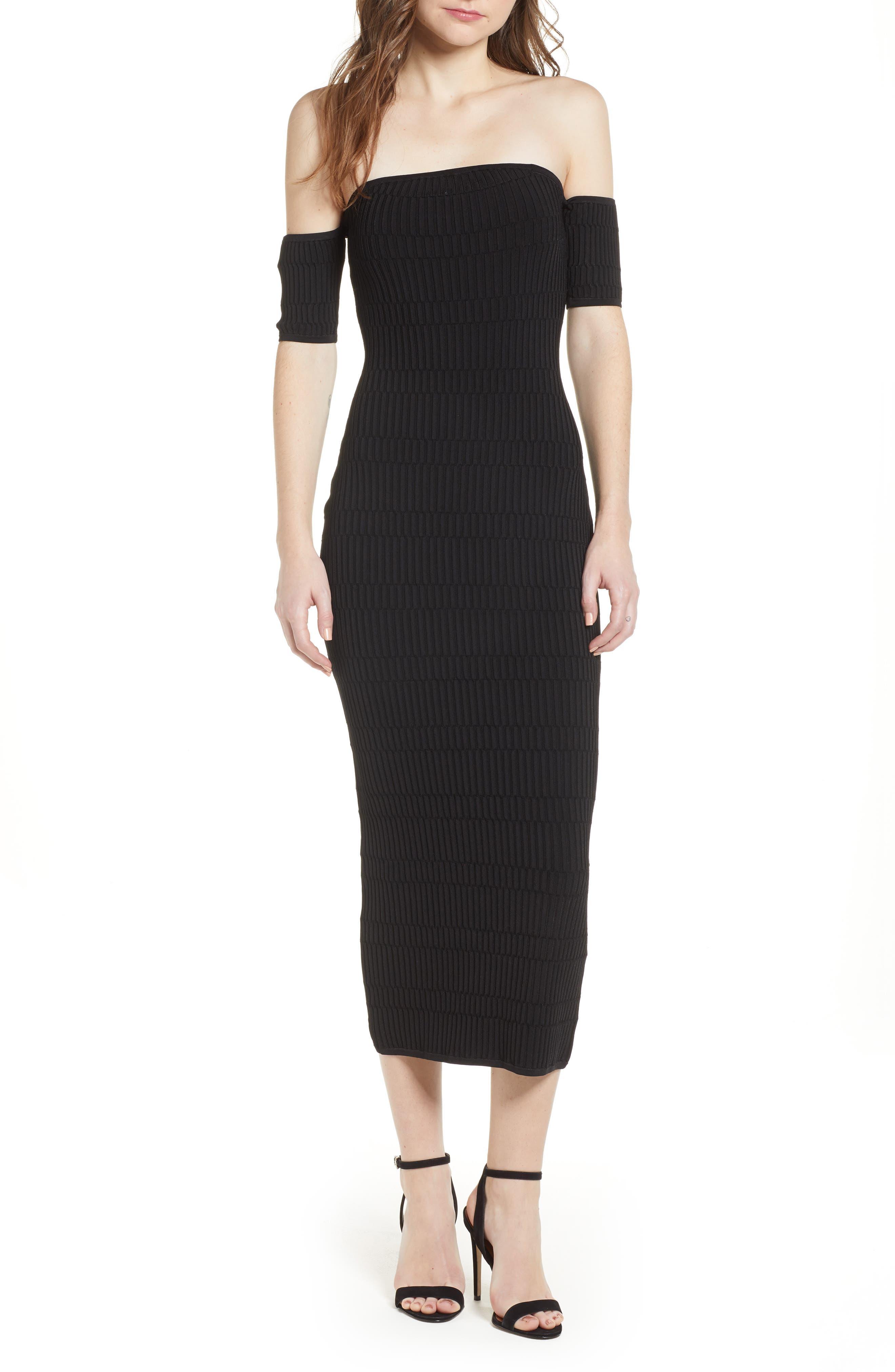 Tube Sweater Dress,                         Main,                         color, Black