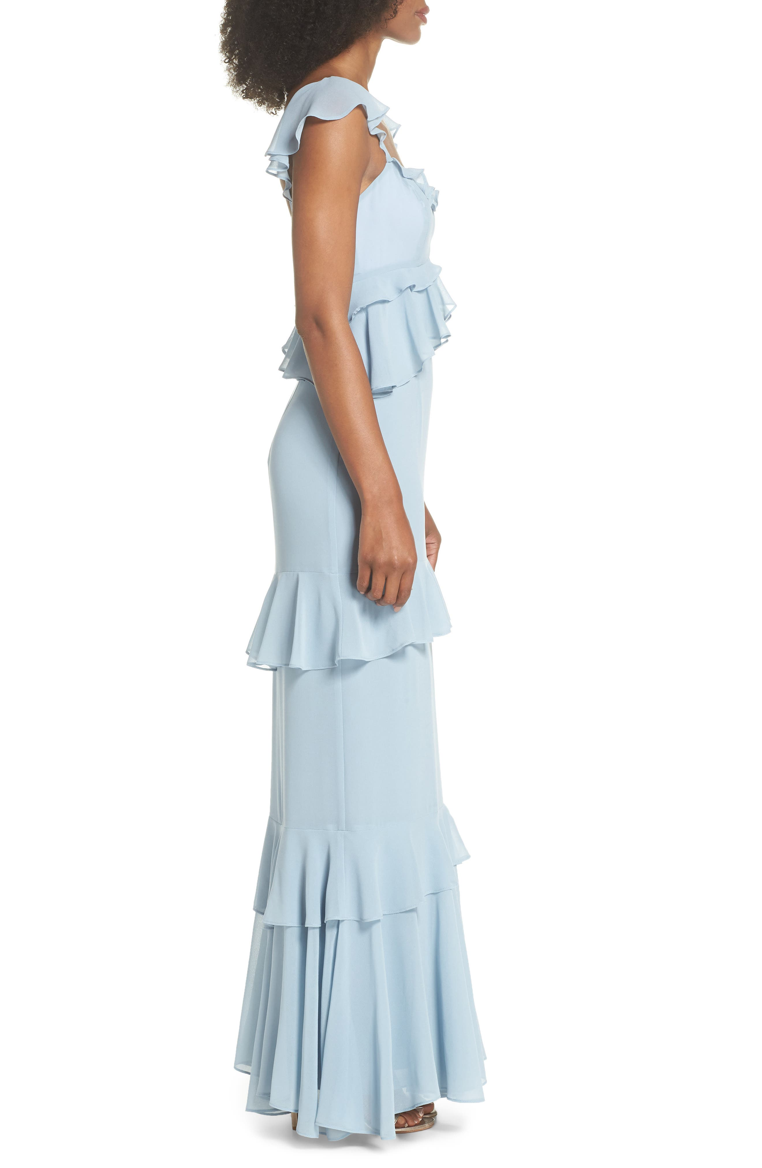 Alternate Image 3  - WAYF The Gywneth Ruffle Maxi Gown