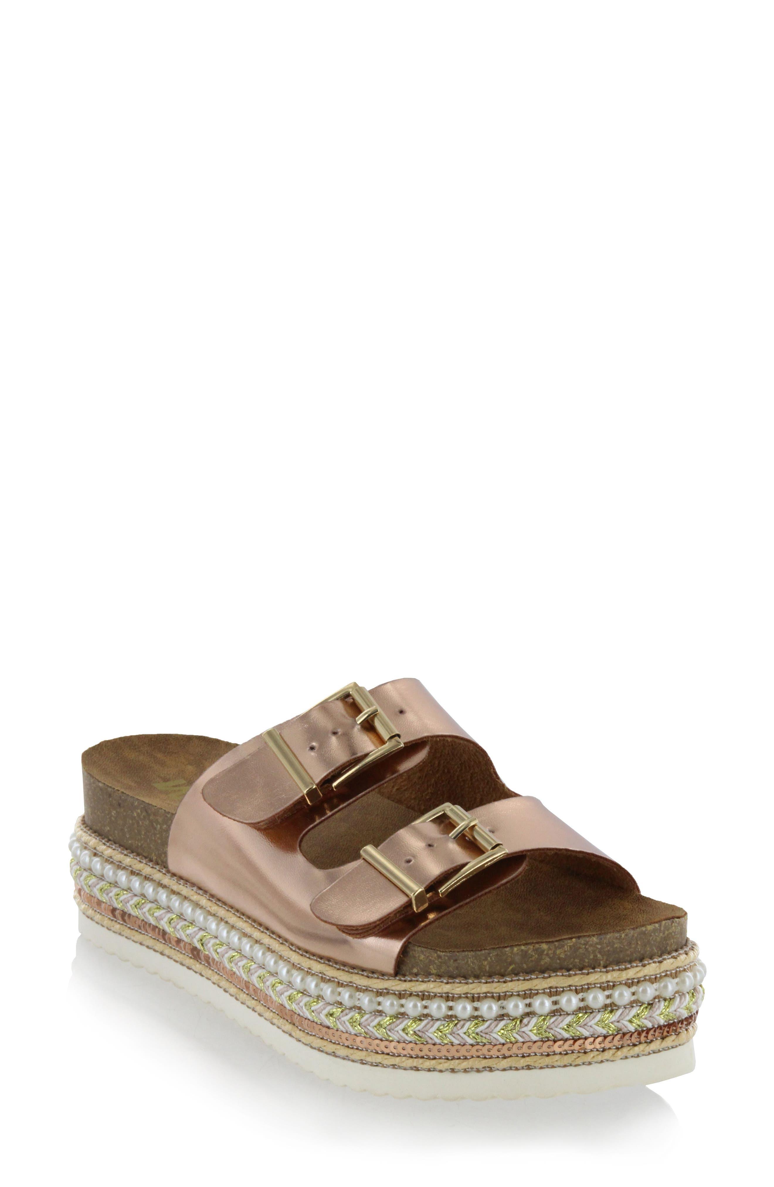 MIA Topaz Embellished Slide Sandal (Women)