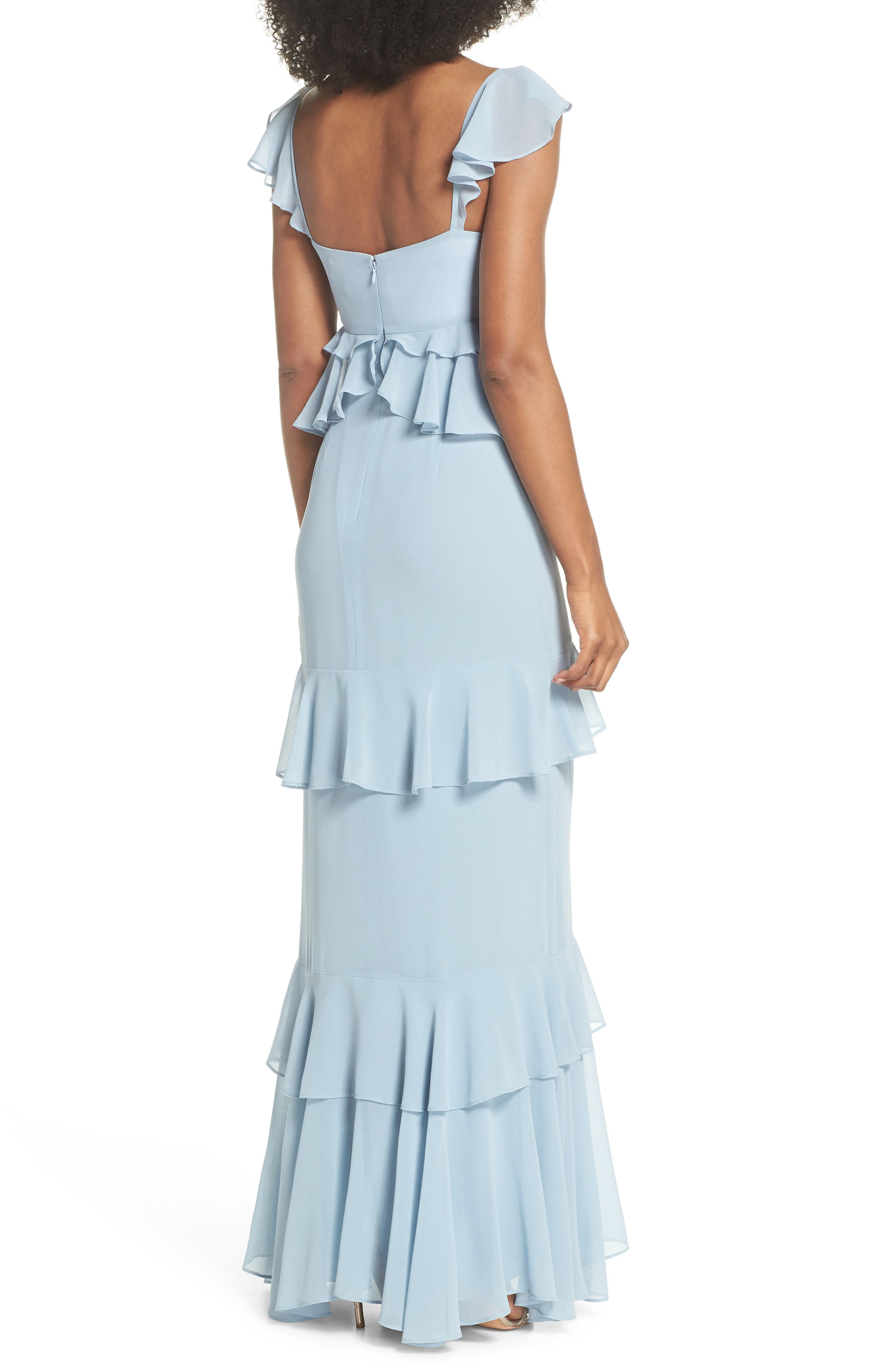 Alternate Image 2  - WAYF The Gywneth Ruffle Maxi Gown