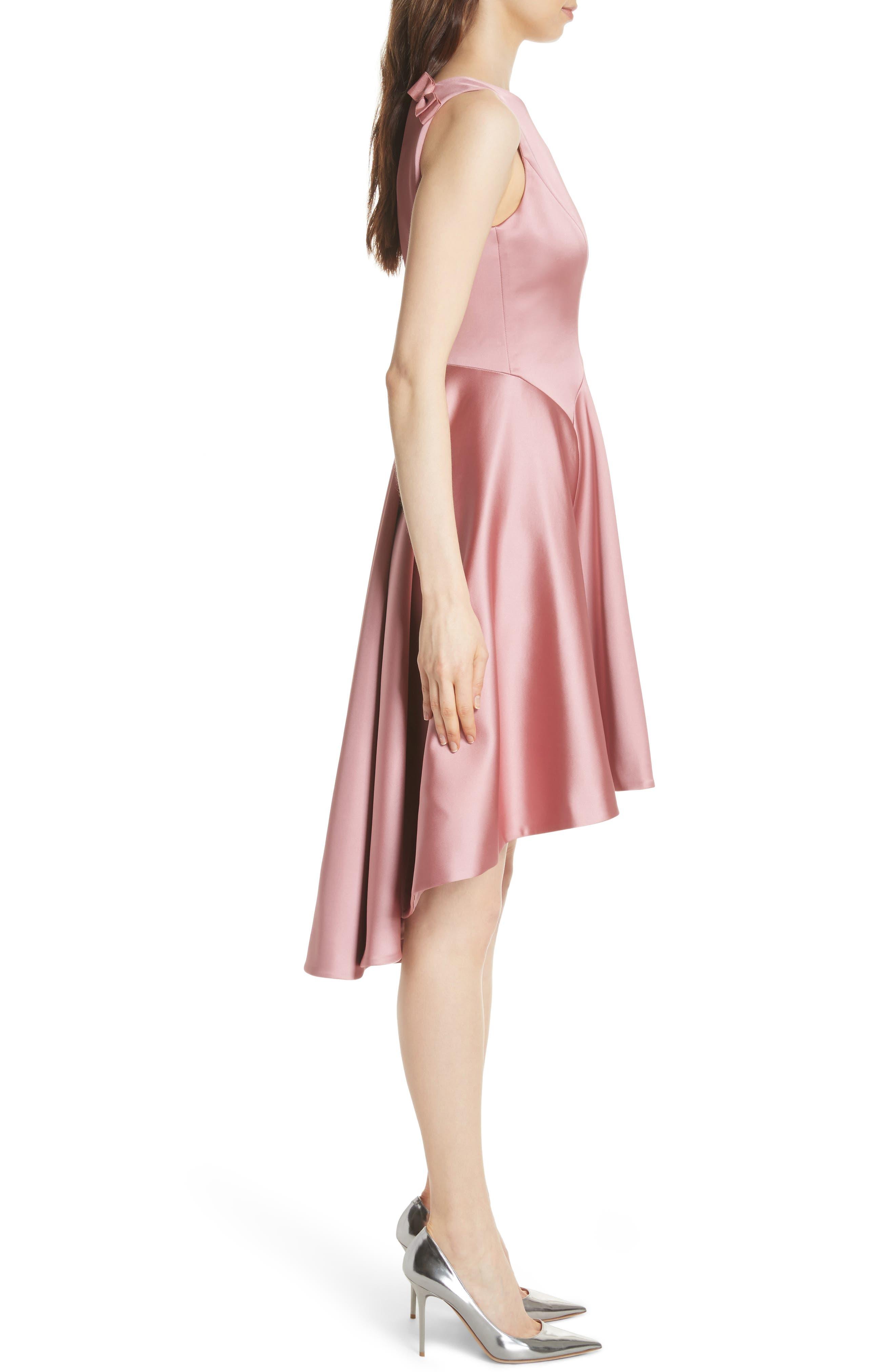Rhubi High/Low Dress,                             Alternate thumbnail 3, color,                             Pink