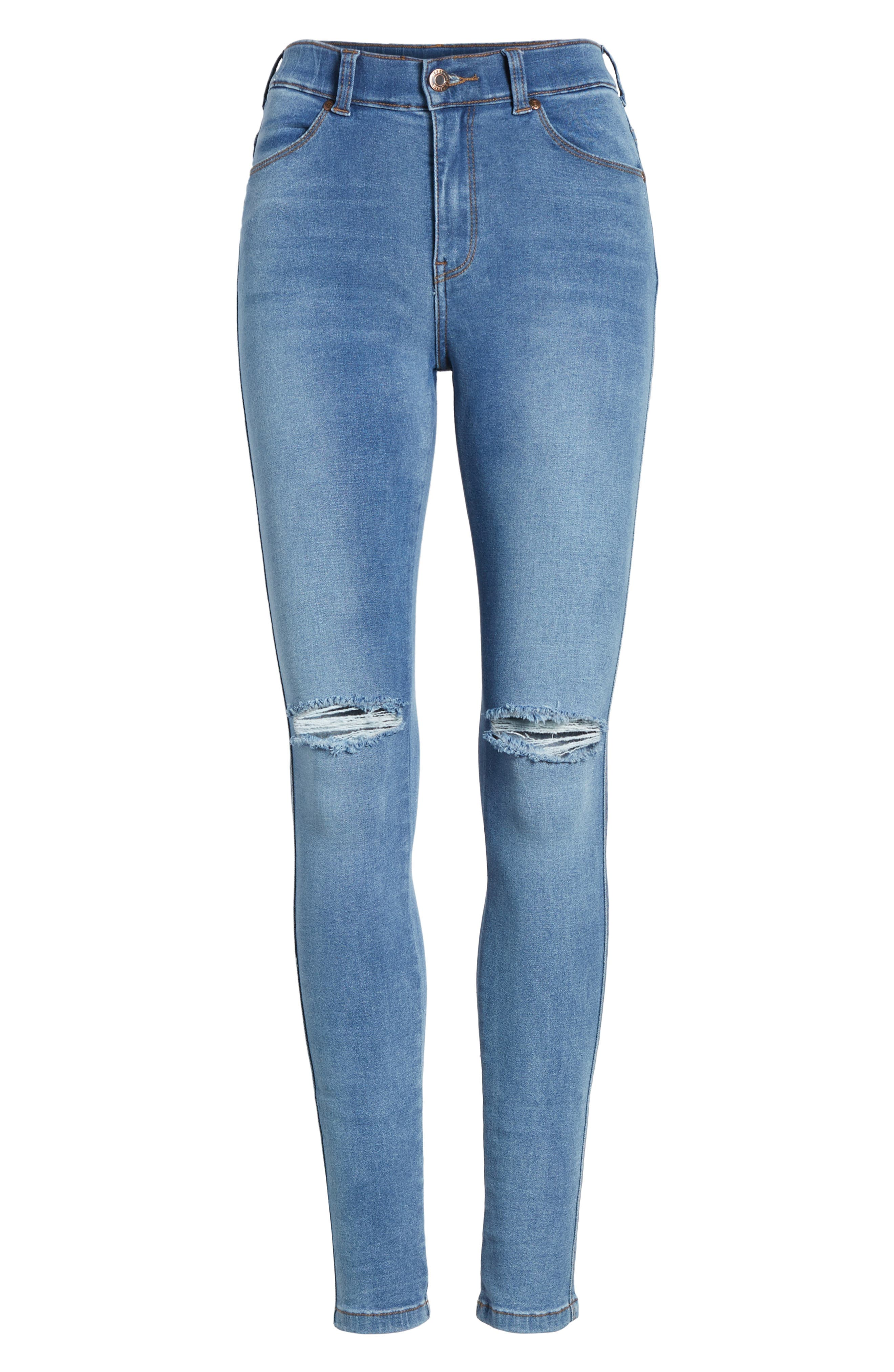 Lexy Ripped Skinny Jeans,                             Alternate thumbnail 7, color,                             Light Stone Destroyed