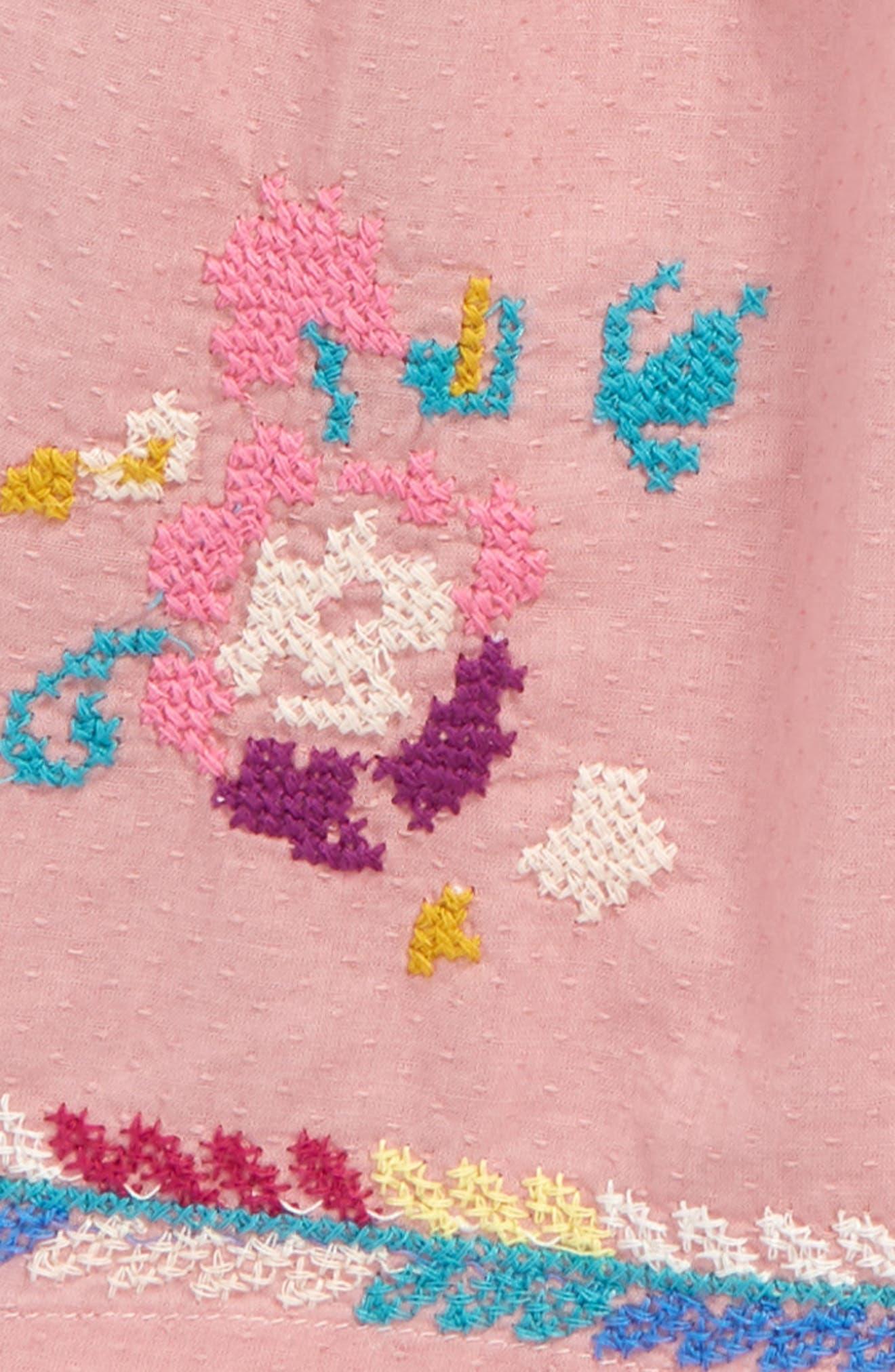 Delilah Embroidered Dress,                             Alternate thumbnail 2, color,                             Pink Multi