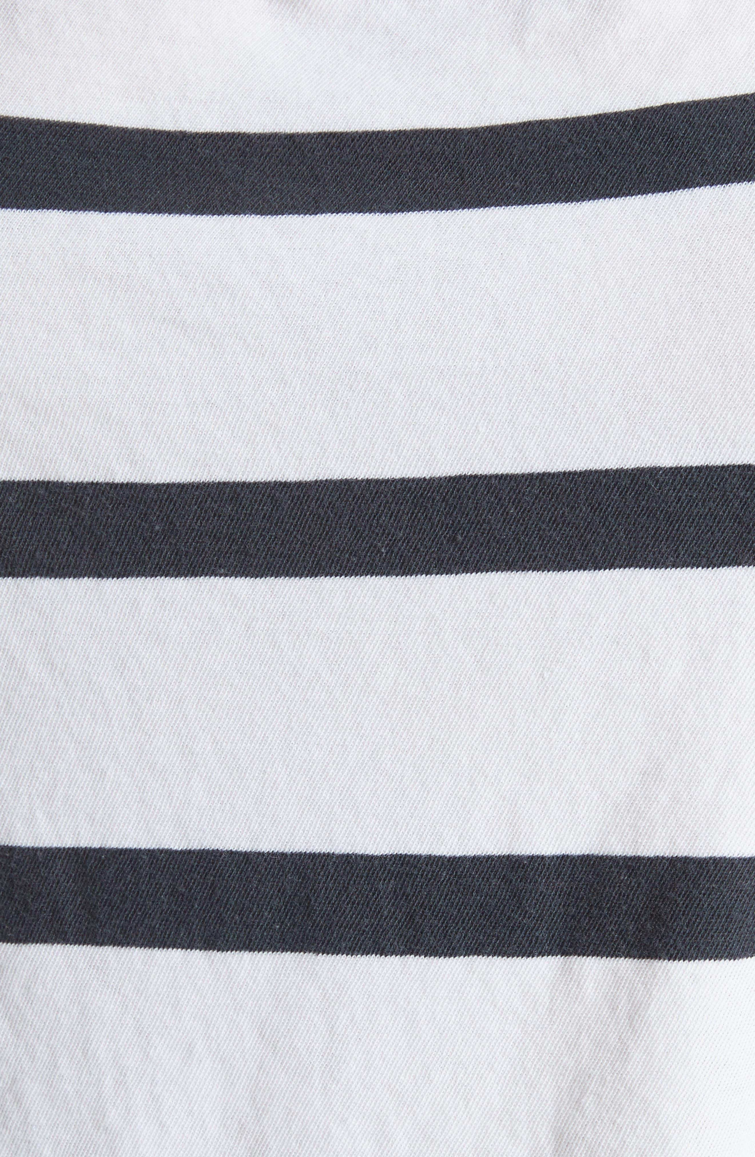 Stripe Cut Neck Tee,                             Alternate thumbnail 5, color,                             Bleach Stripe