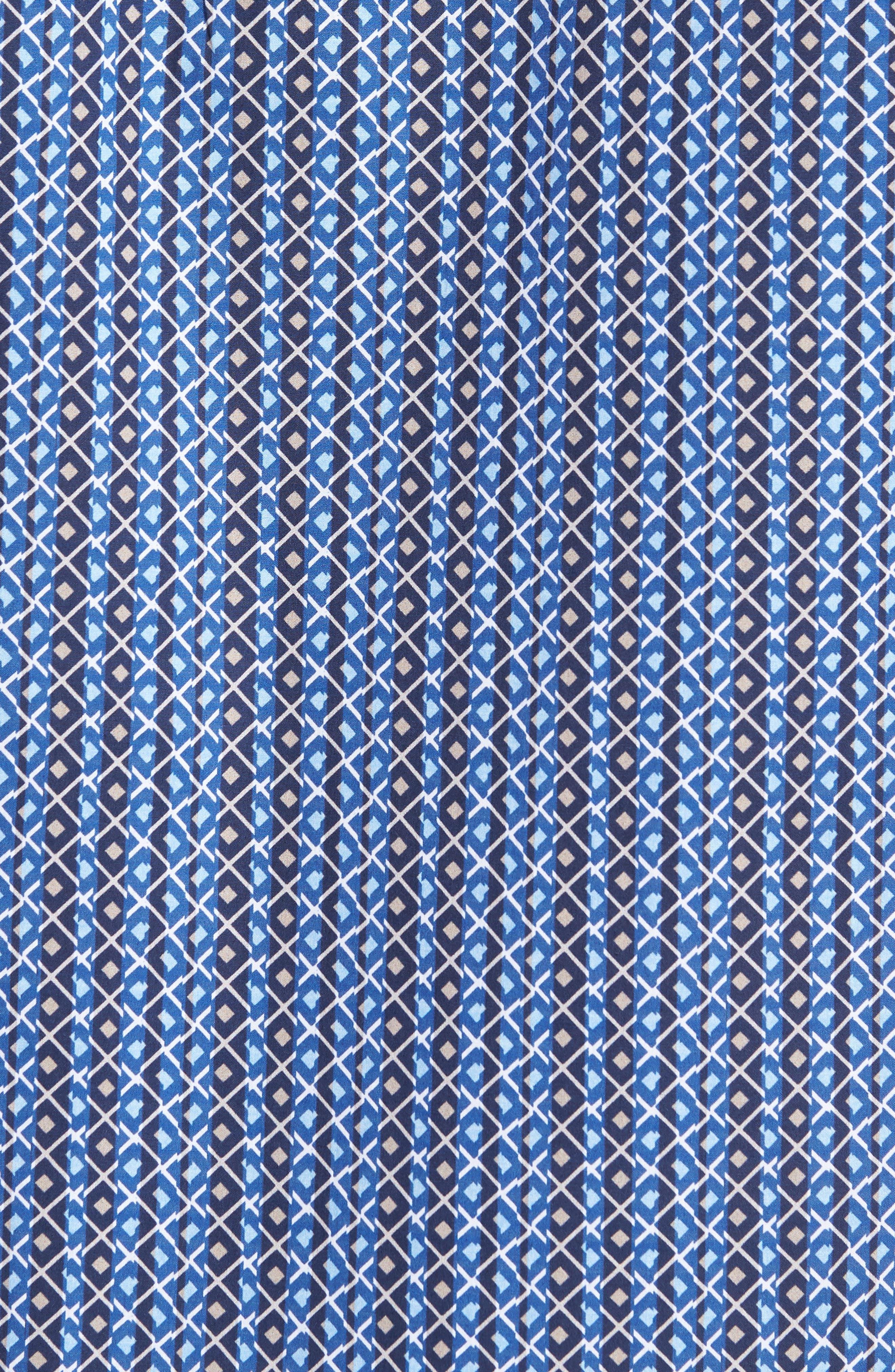 Classic Fit Print Sport Shirt,                             Alternate thumbnail 5, color,                             Classic Blue