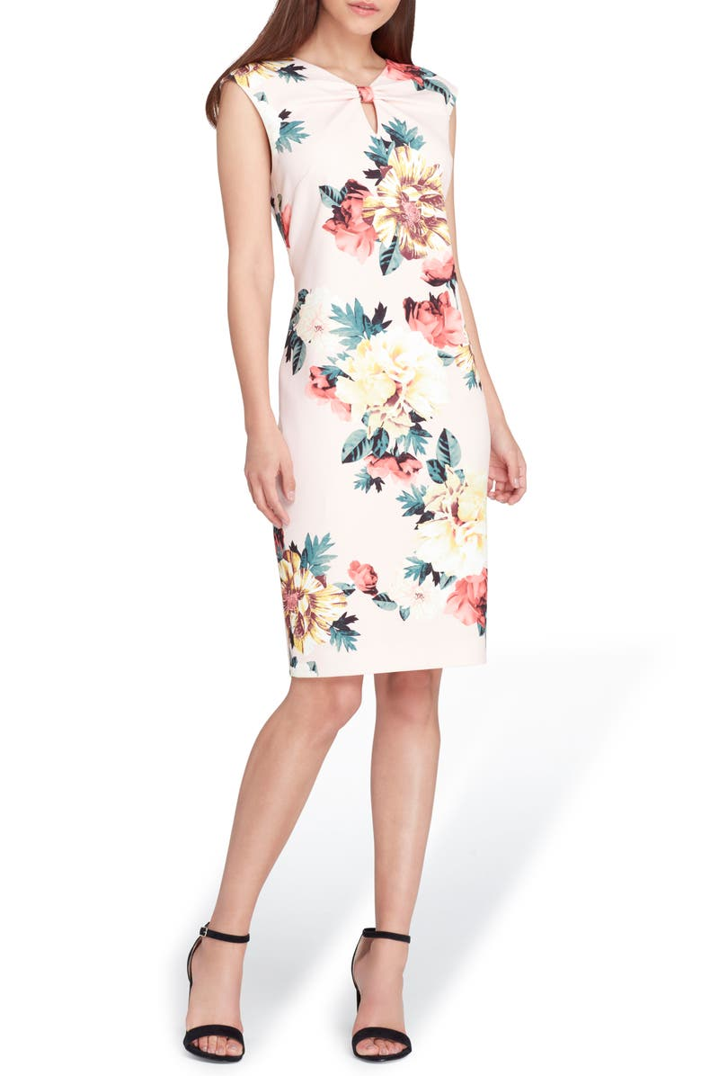 Floral Scuba Crepe Sheath Dress