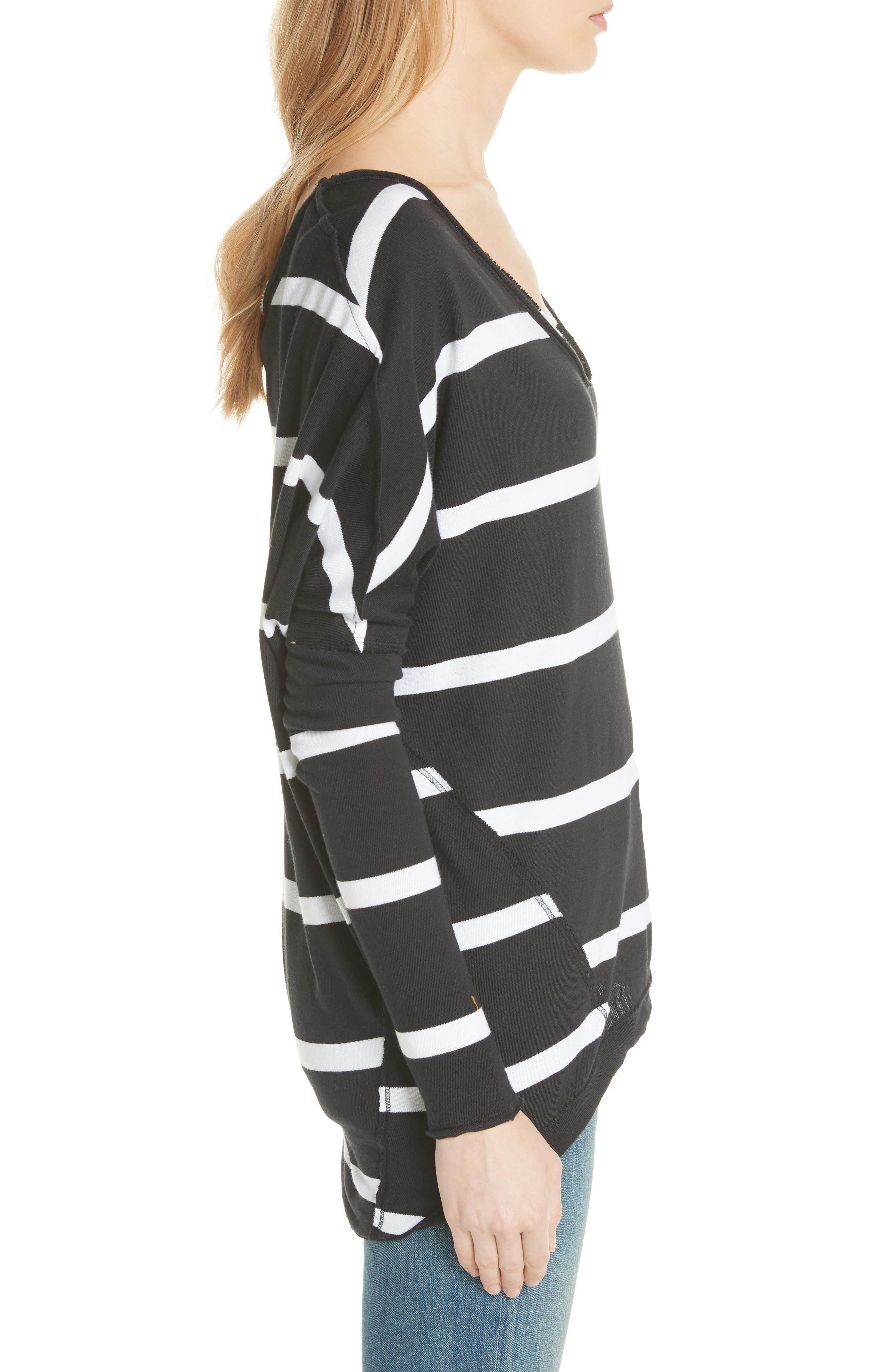 Upstate Stripe Tee,                             Alternate thumbnail 3, color,                             Onyx Combo