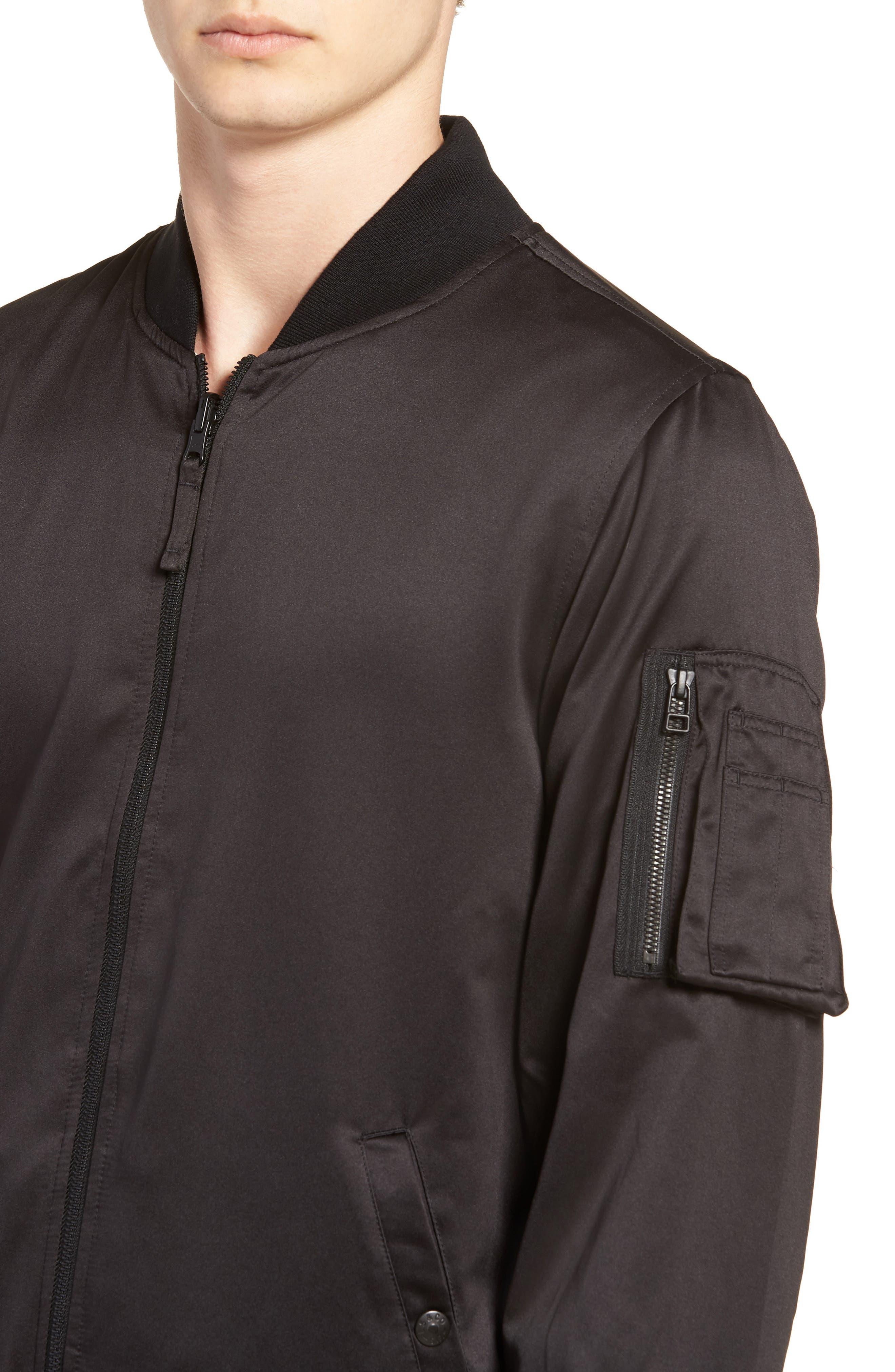 Reversible MA-1 Jacket,                             Alternate thumbnail 5, color,                             Black