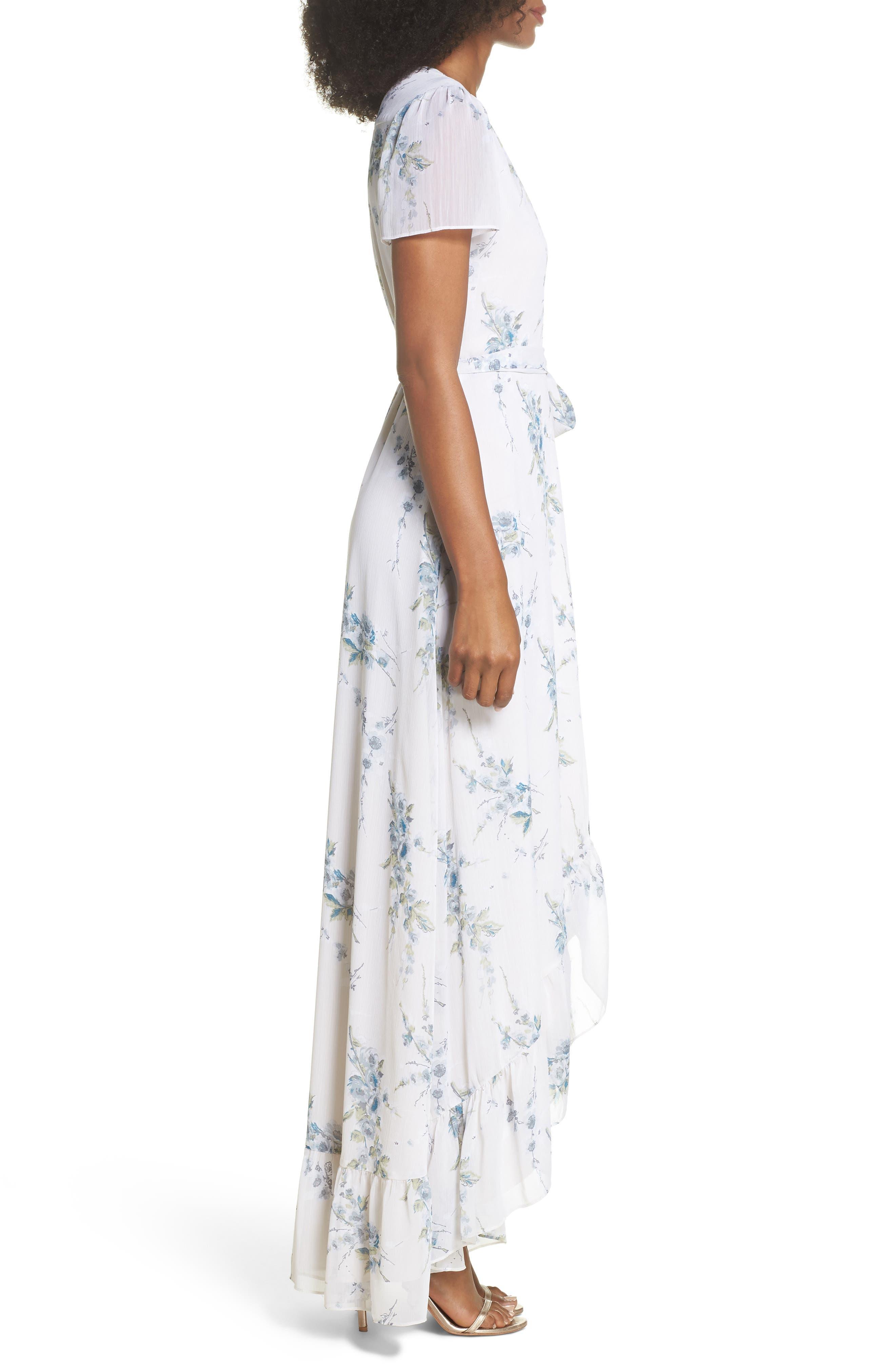 Alternate Image 3  - WAYF The Natasha Floral Wrap Maxi Dress