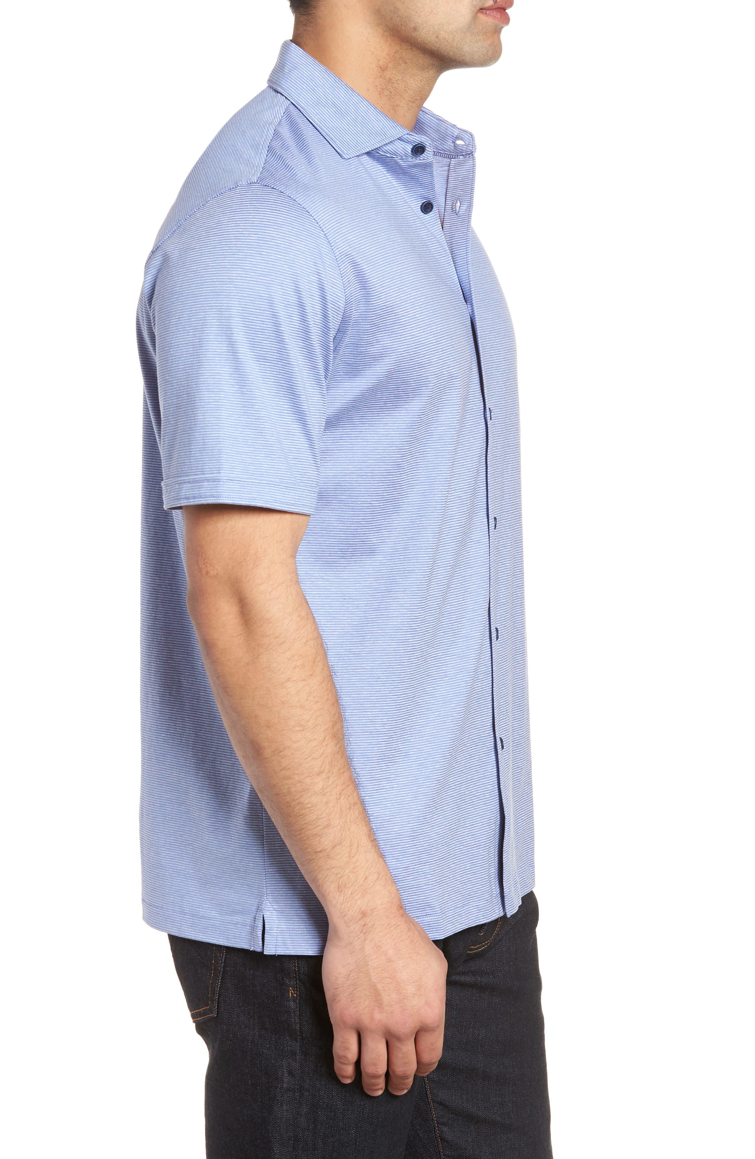 Regular Fit Knit Sport Shirt,                             Alternate thumbnail 3, color,                             Lilac