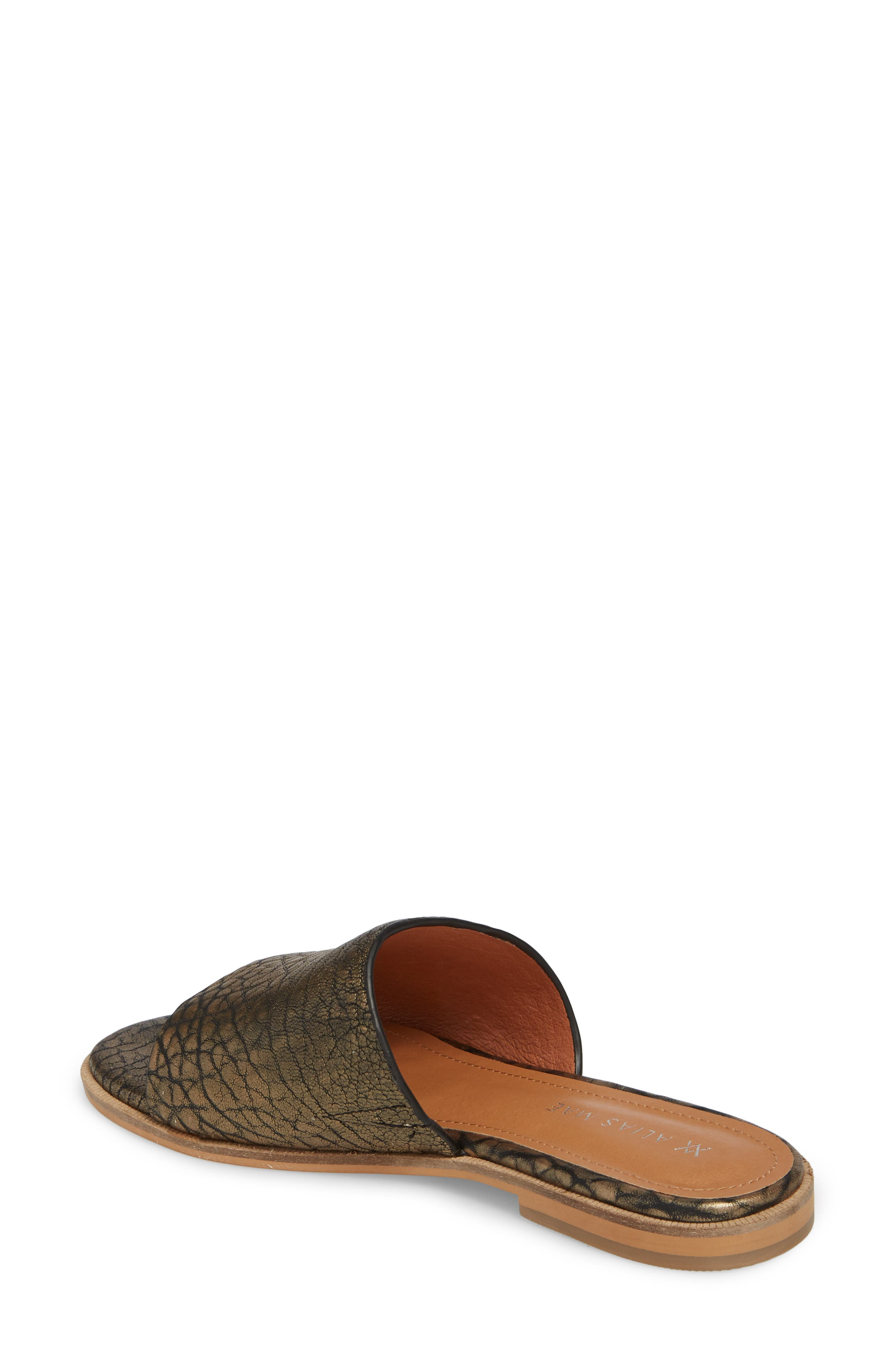 Therapy Slide Sandal,                             Alternate thumbnail 2, color,                             Gold Leather
