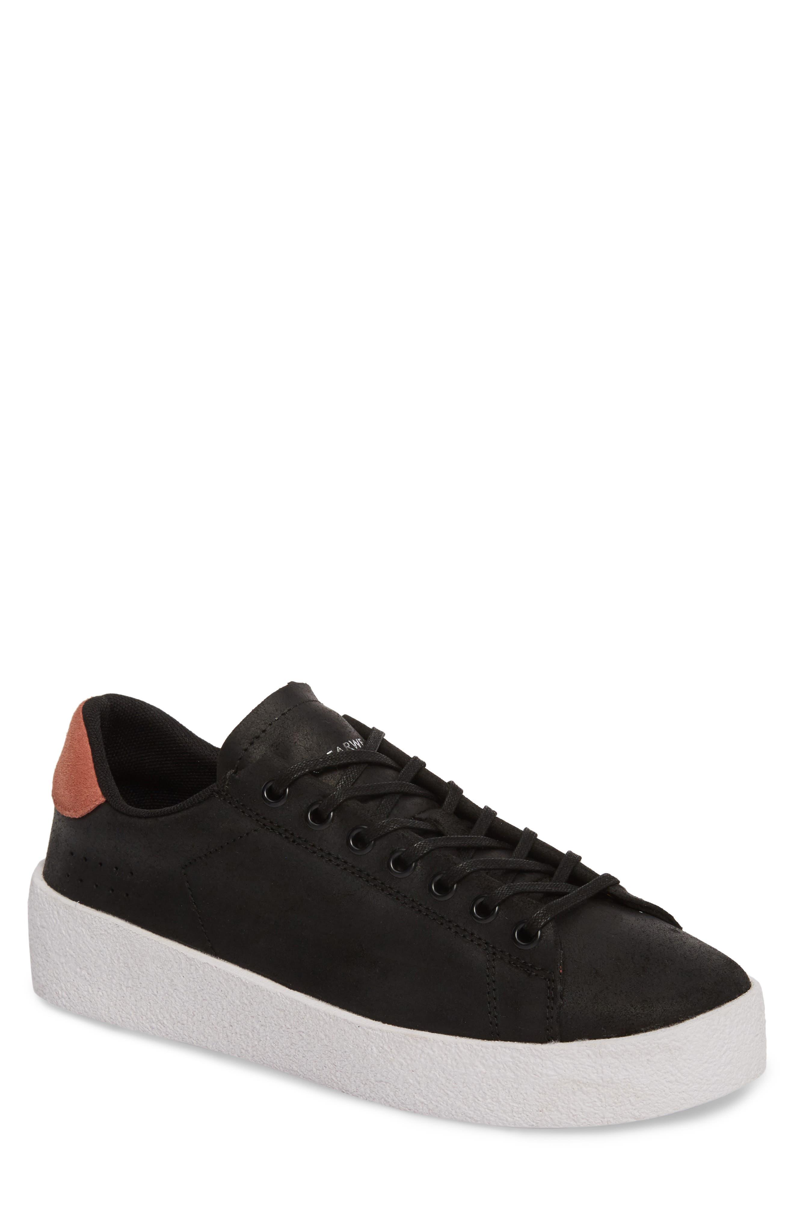 Jones Platform Sneaker,                         Main,                         color, Black Leather