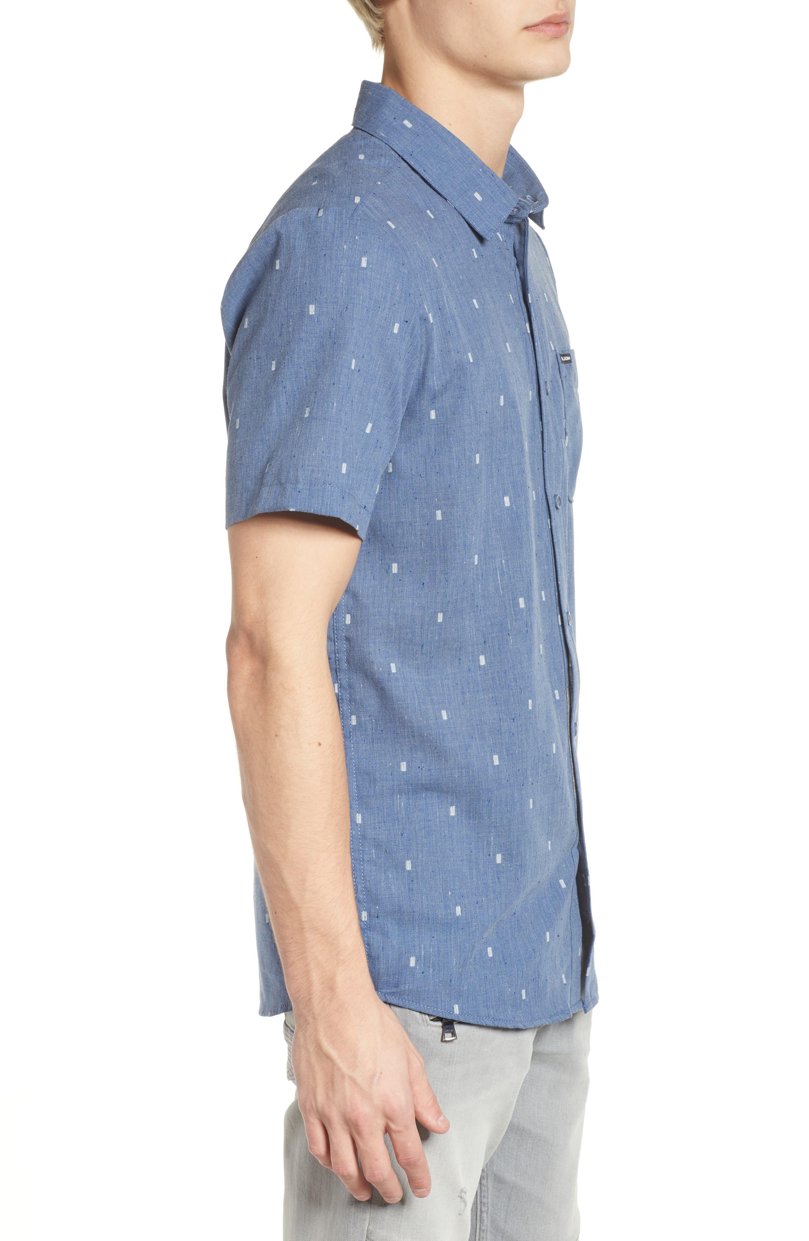Gladstone Short Sleeve Shirt,                             Alternate thumbnail 3, color,                             Deep Blue