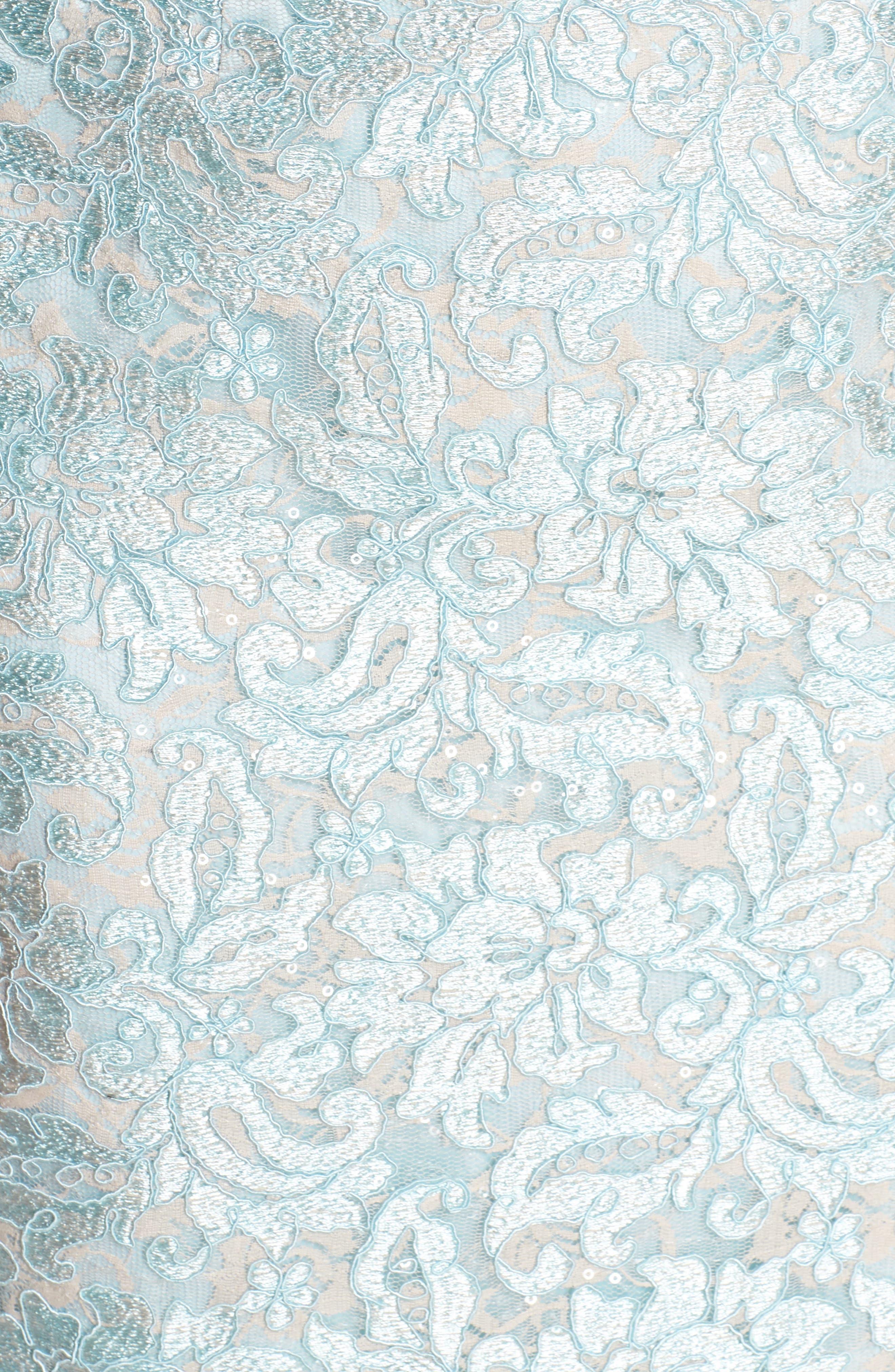 Lace Sheath Dress,                             Alternate thumbnail 5, color,                             Mint