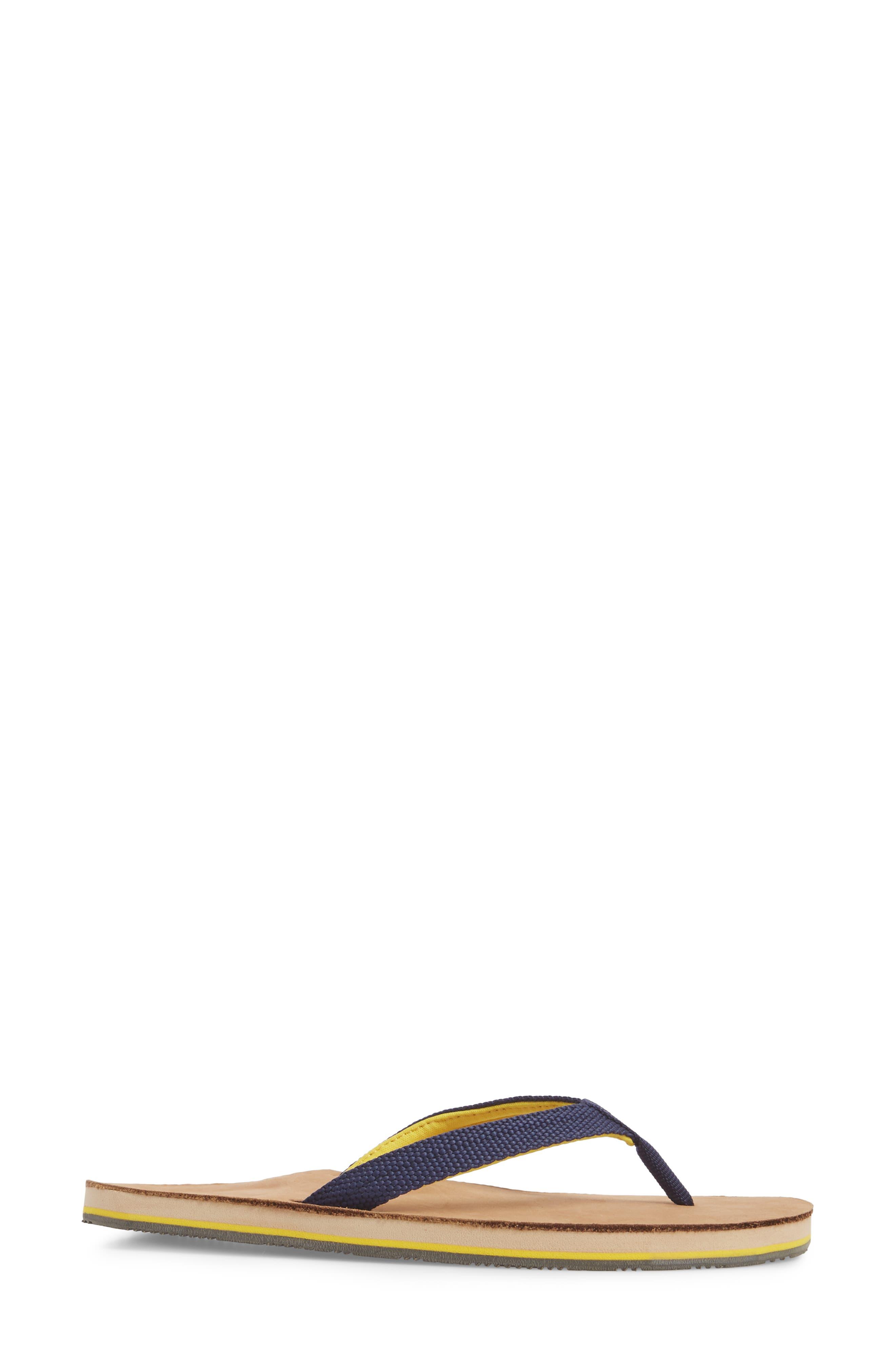 Scouts Flip Flop,                             Alternate thumbnail 3, color,                             Navy Yellow