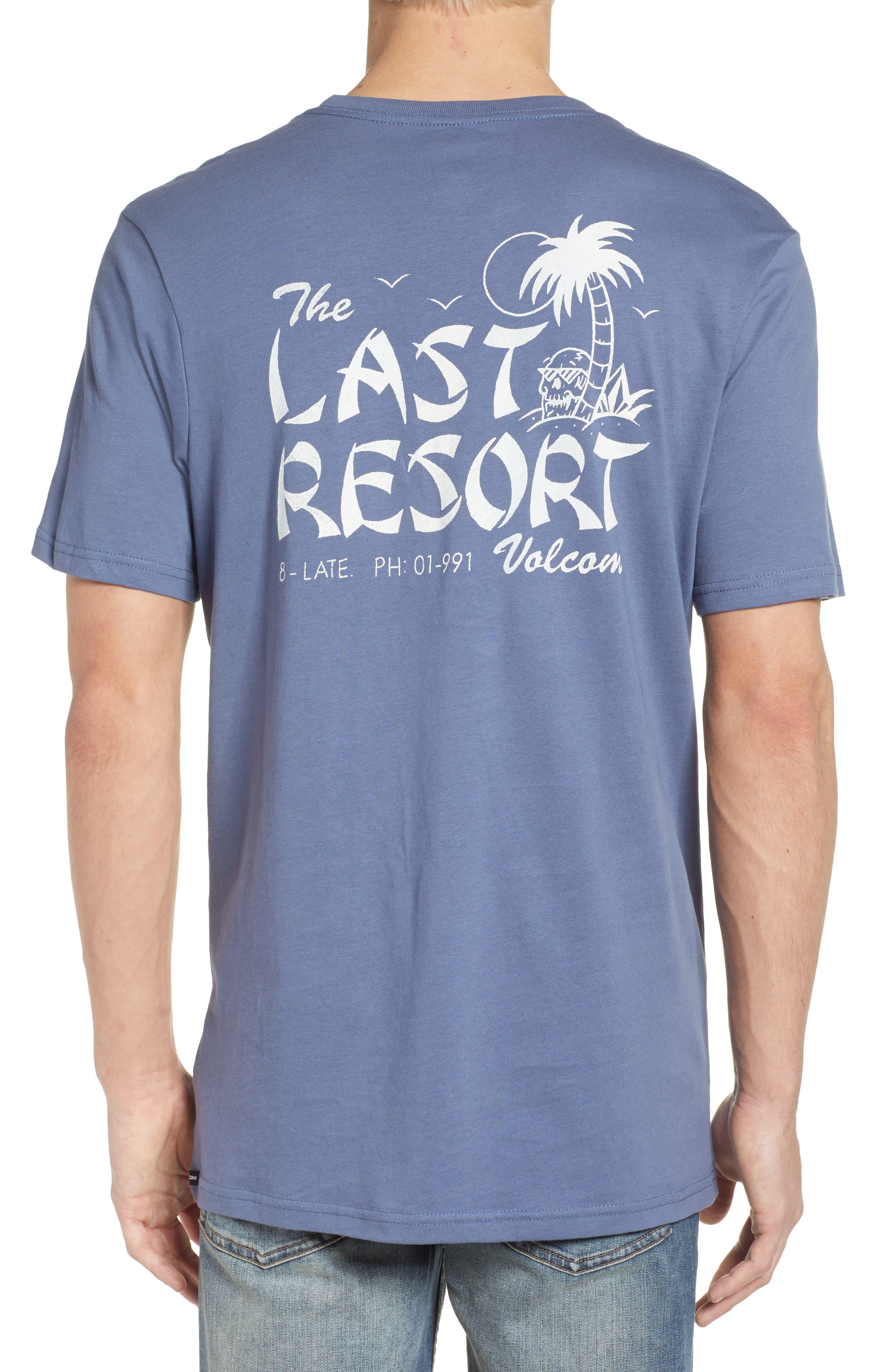 Last Resort Pocket T-Shirt,                             Alternate thumbnail 2, color,                             Deep Blue