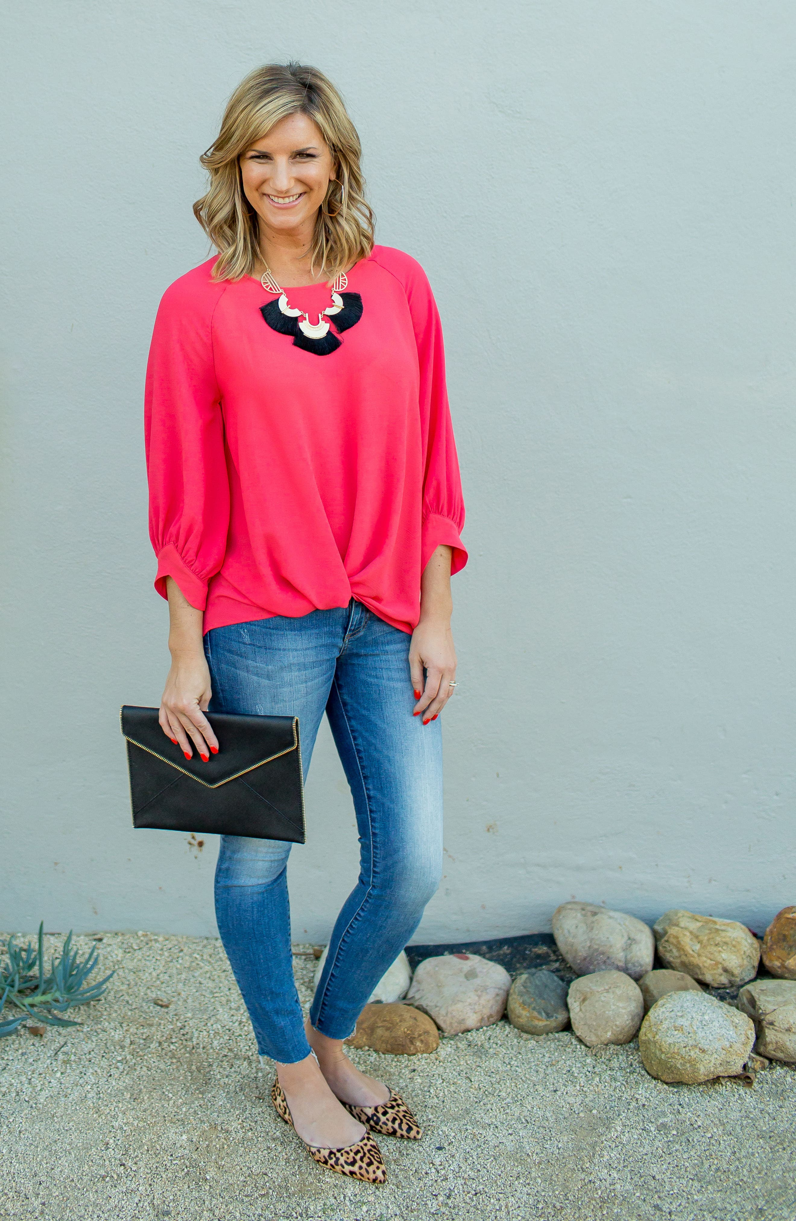 x Living in Yellow Maggie Twist Hem Top,                             Alternate thumbnail 2, color,                             Poppy