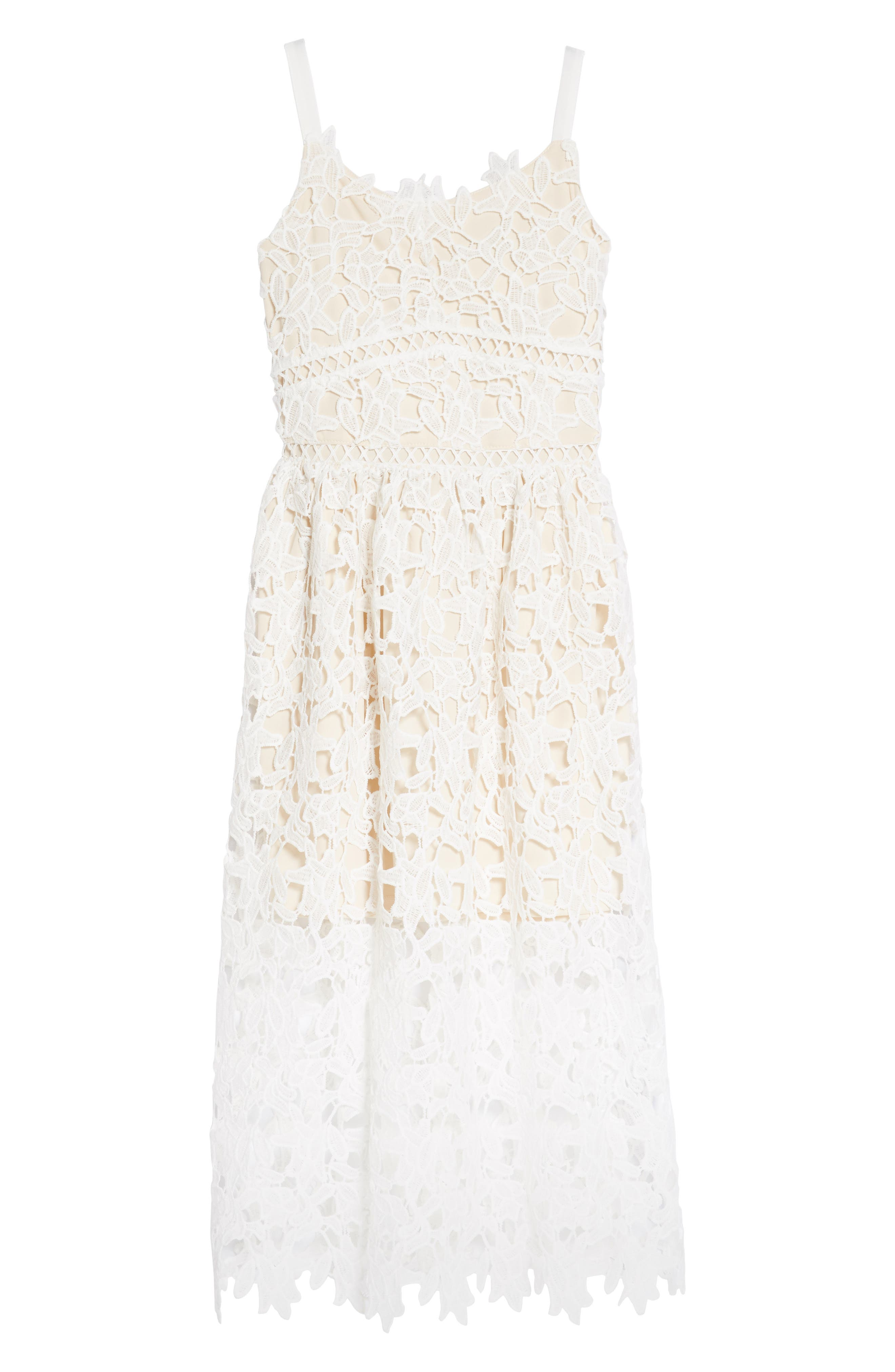 Alternate Image 1 Selected - Trixxi Floral Lace Dress (Big Girls)