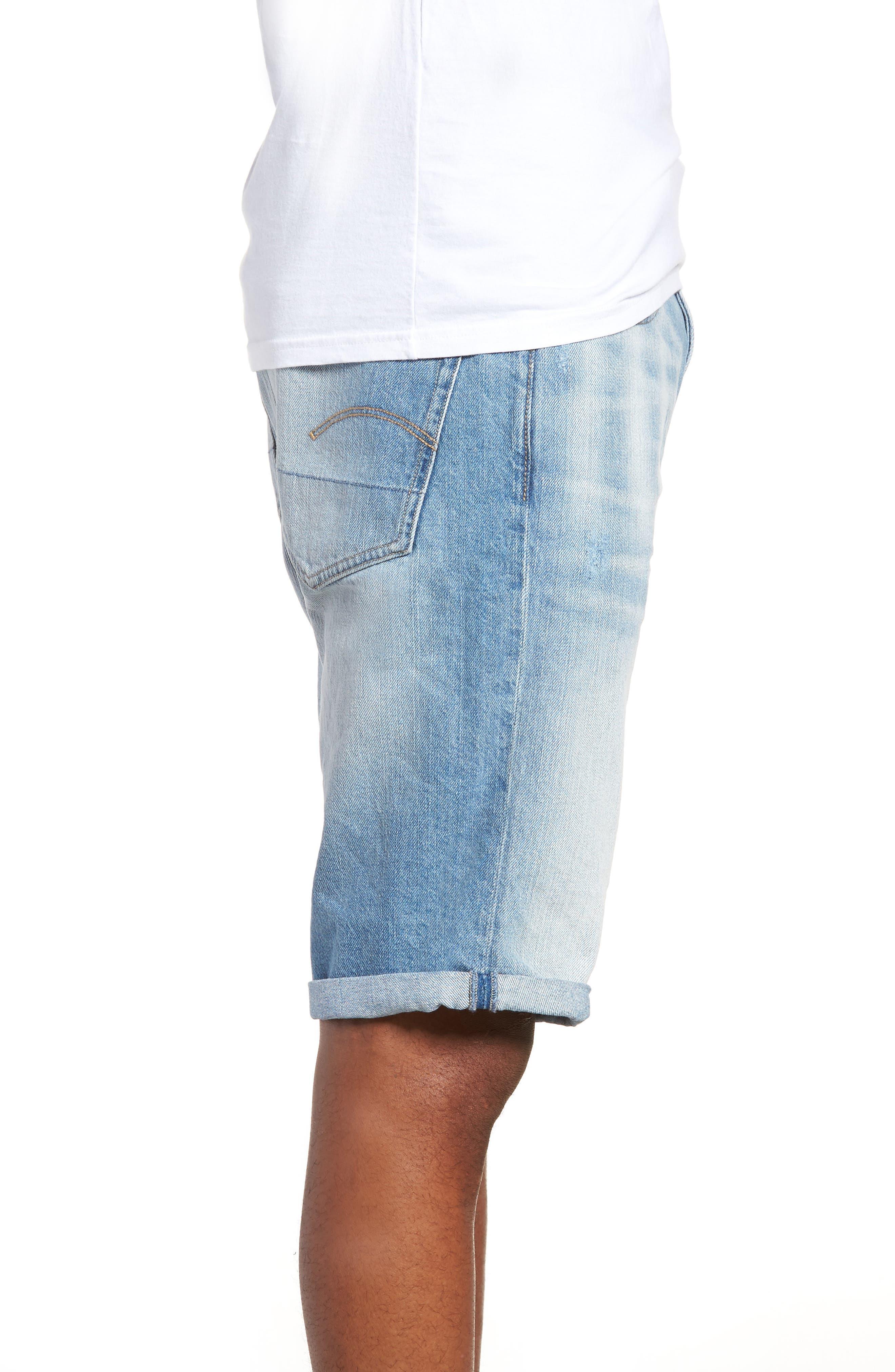 Slim Fit Denim Shorts,                             Alternate thumbnail 2, color,                             Light Aged