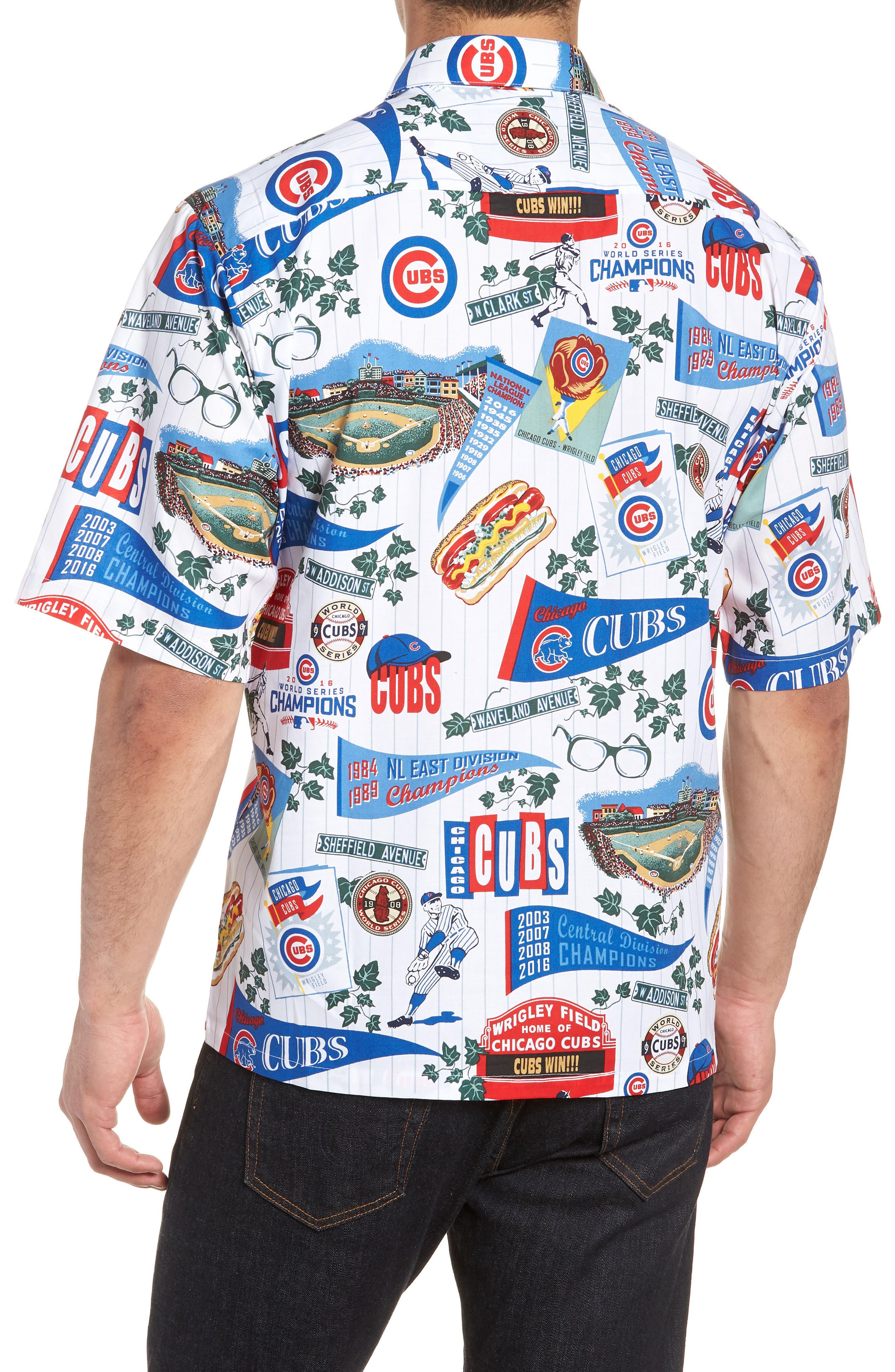Chicago Cubs Classic Fit Camp Shirt,                             Alternate thumbnail 2, color,                             Scenic
