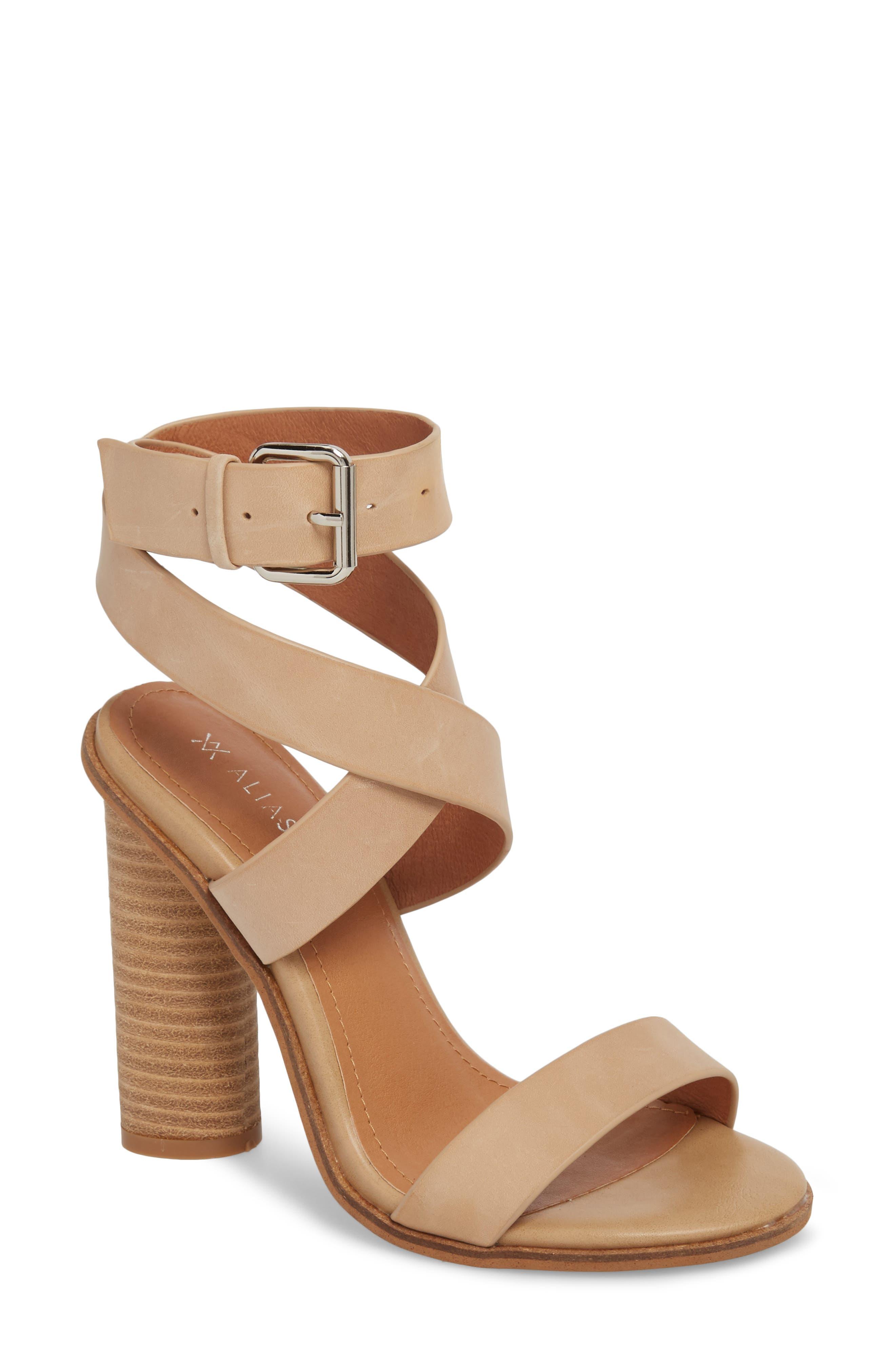 Abaala Cross Strap Sandal,                         Main,                         color, Natural Leather