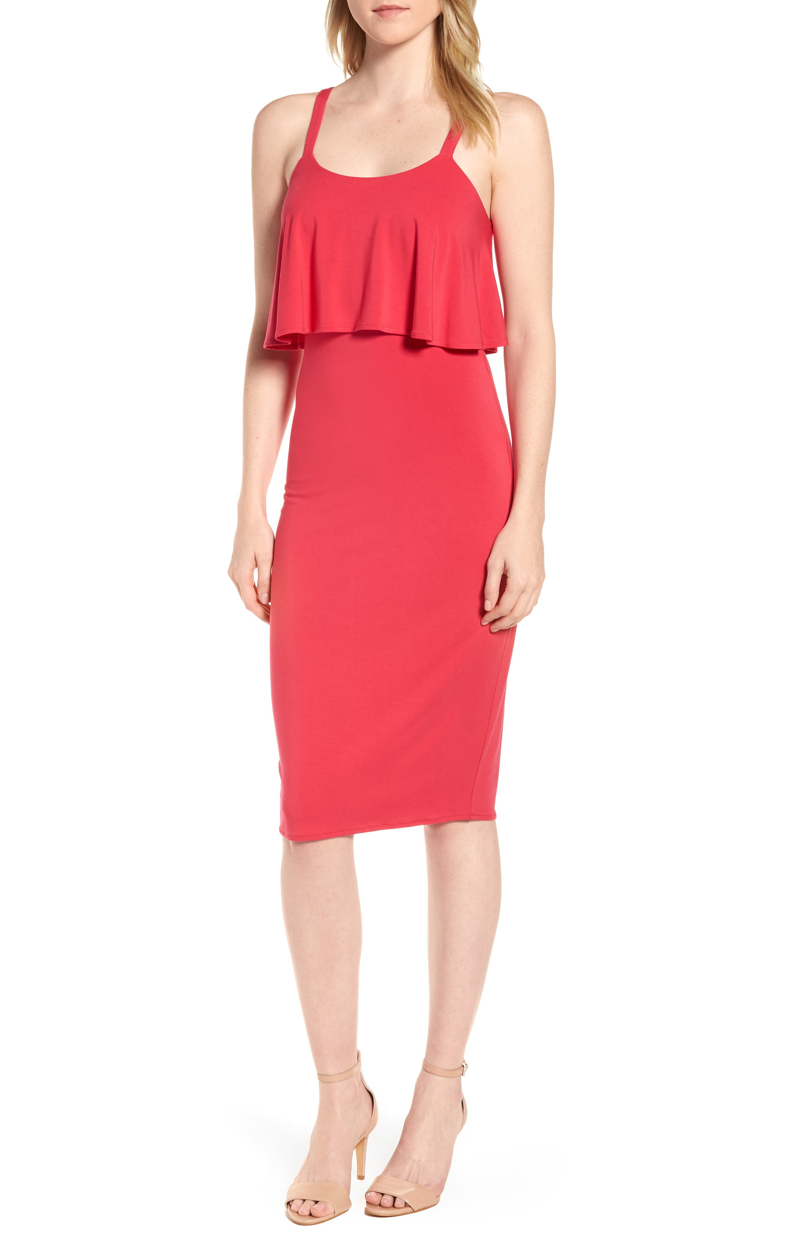 MICHAEL Michael Kors Flounce Front Dress